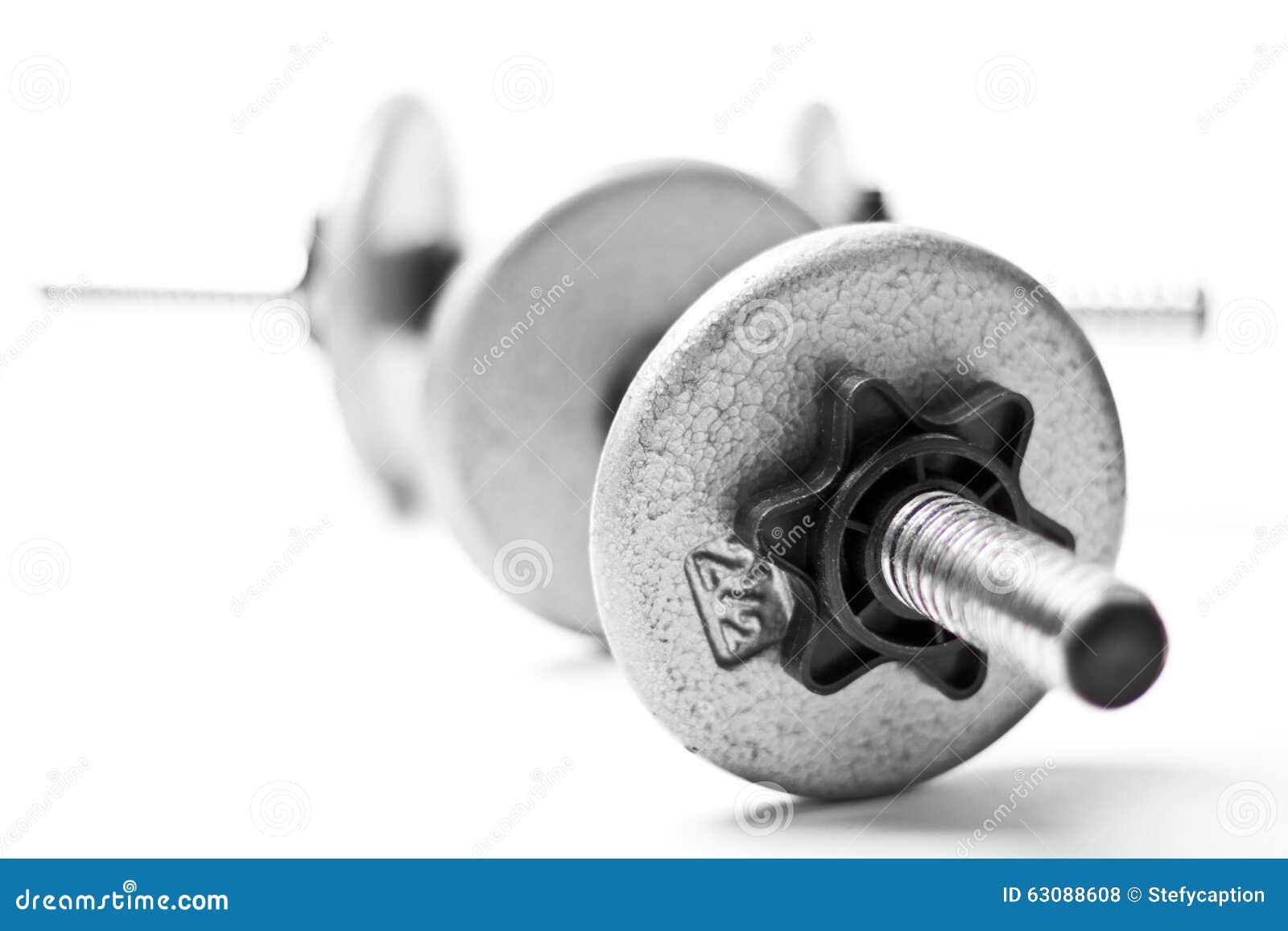 Download Poids de gymnase photo stock. Image du muscle, disques - 63088608