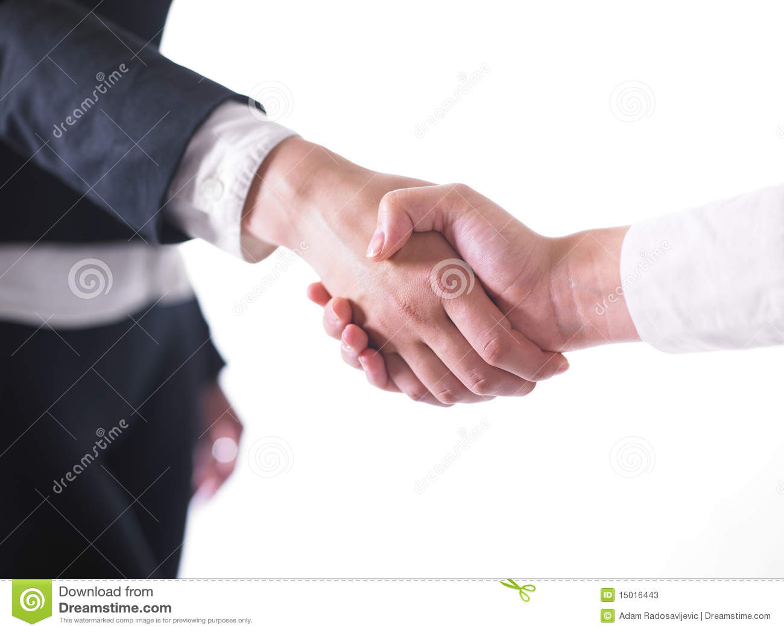 Poignée de main de prise de contact