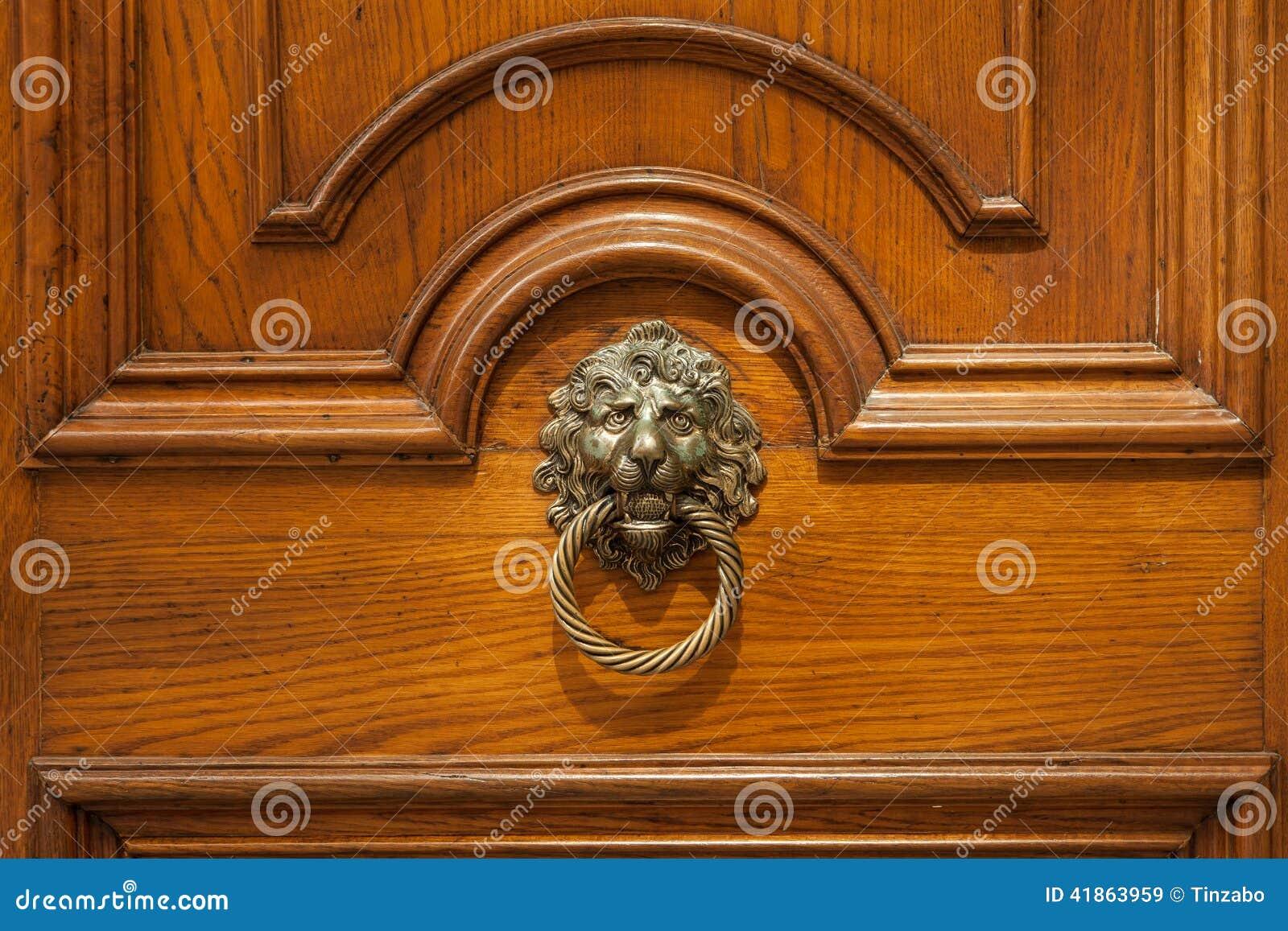 Poign e de porte en bronze originale antique avec le d cor - Poignee de porte originale ...