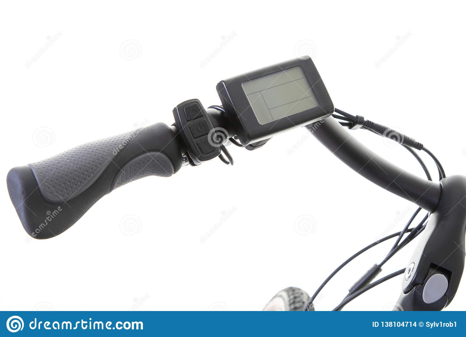 Poignée et guidon d un vélo électrique