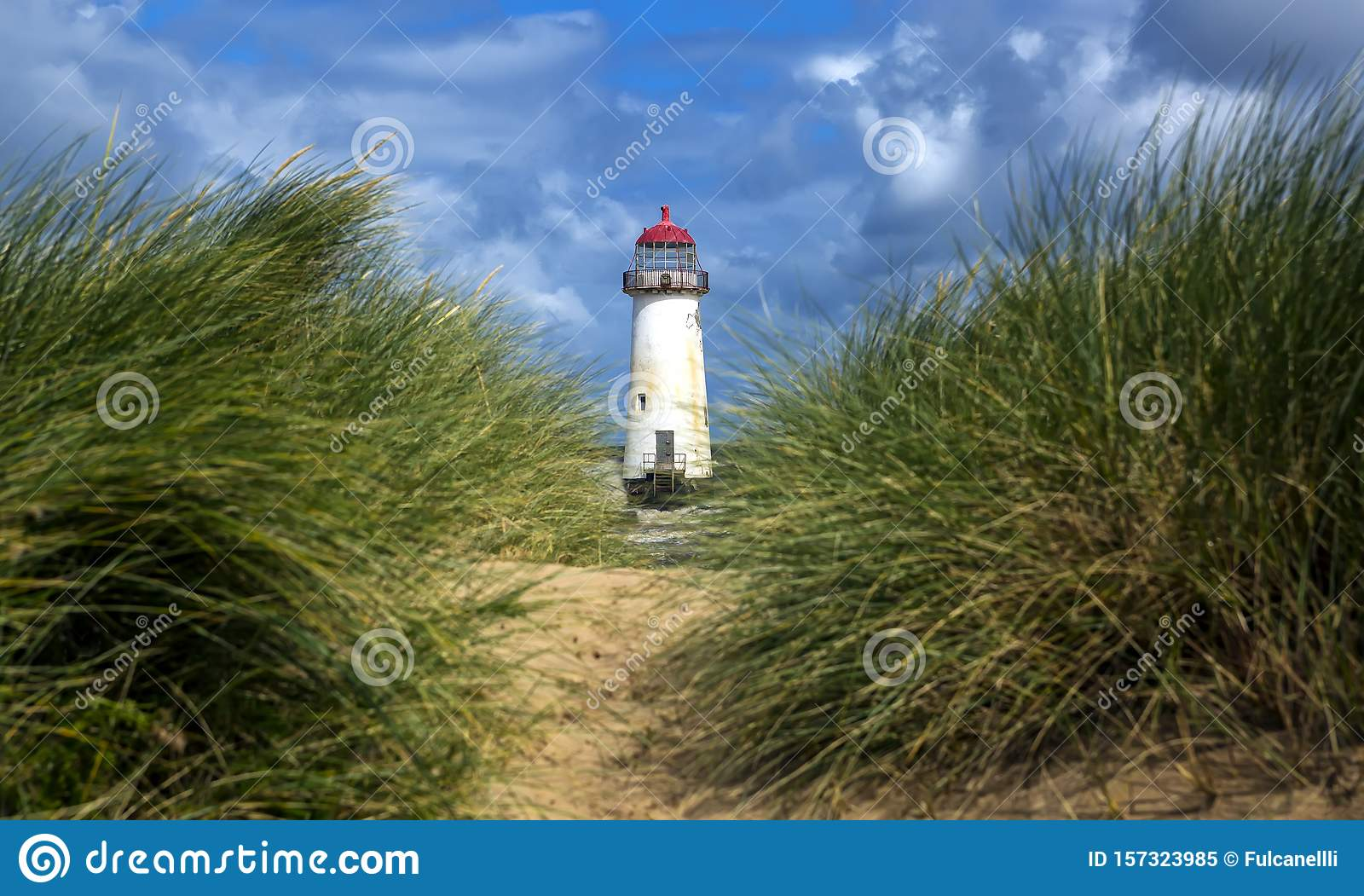 The Point of Ayr Lighthouse, also known as the Talacre Lighthouse, is a grade II listed building situated on the north coast of