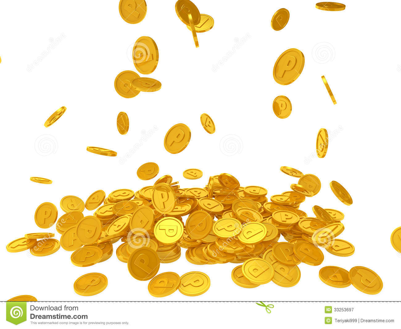 Raining Coins Png Falling gold