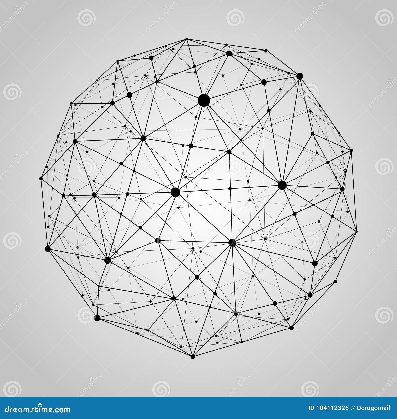 Carte Black Signification.Point De Carte Du Monde Ligne Composition Representant Le
