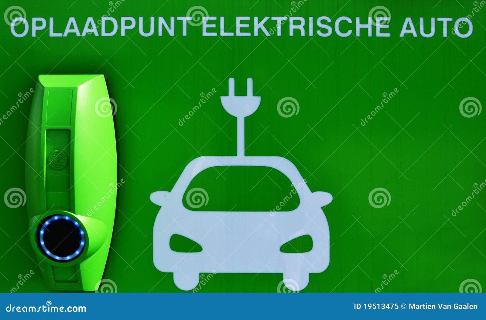Point de charge pour les véhicules électriques.