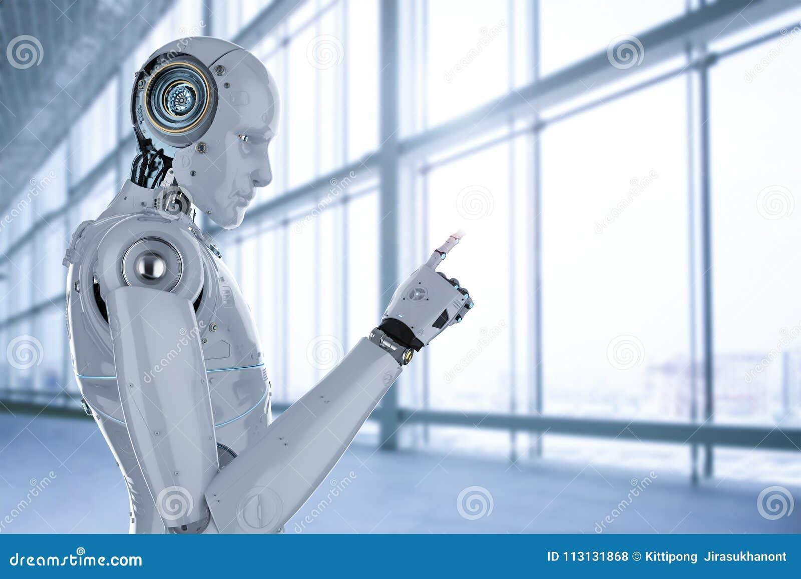 Point de doigt de robot