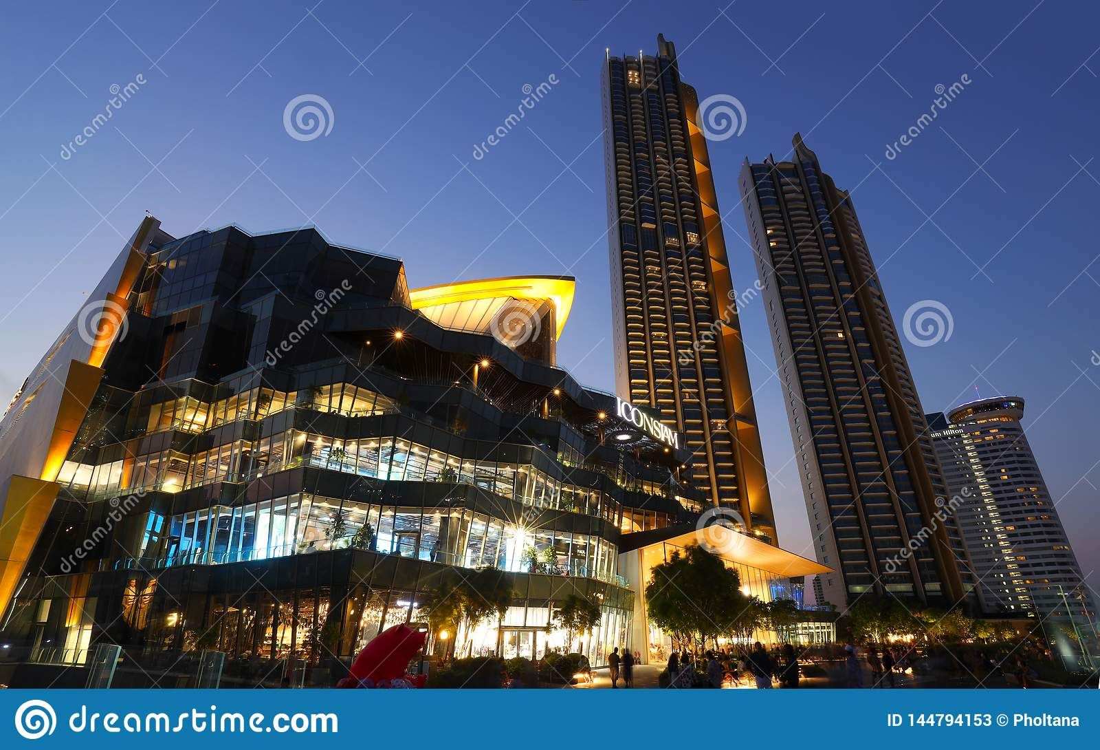 Point de repère de bâtiments à l icône Siam