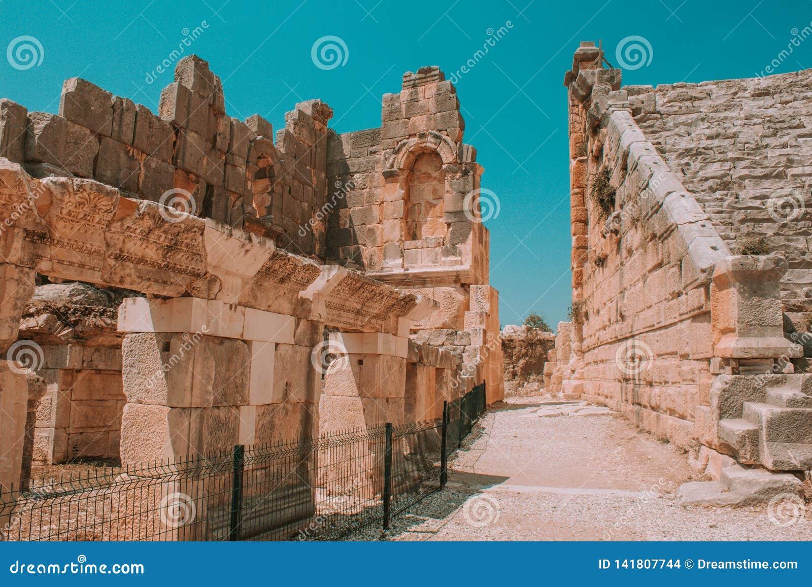 Point de repère Turquie - ruines antiques