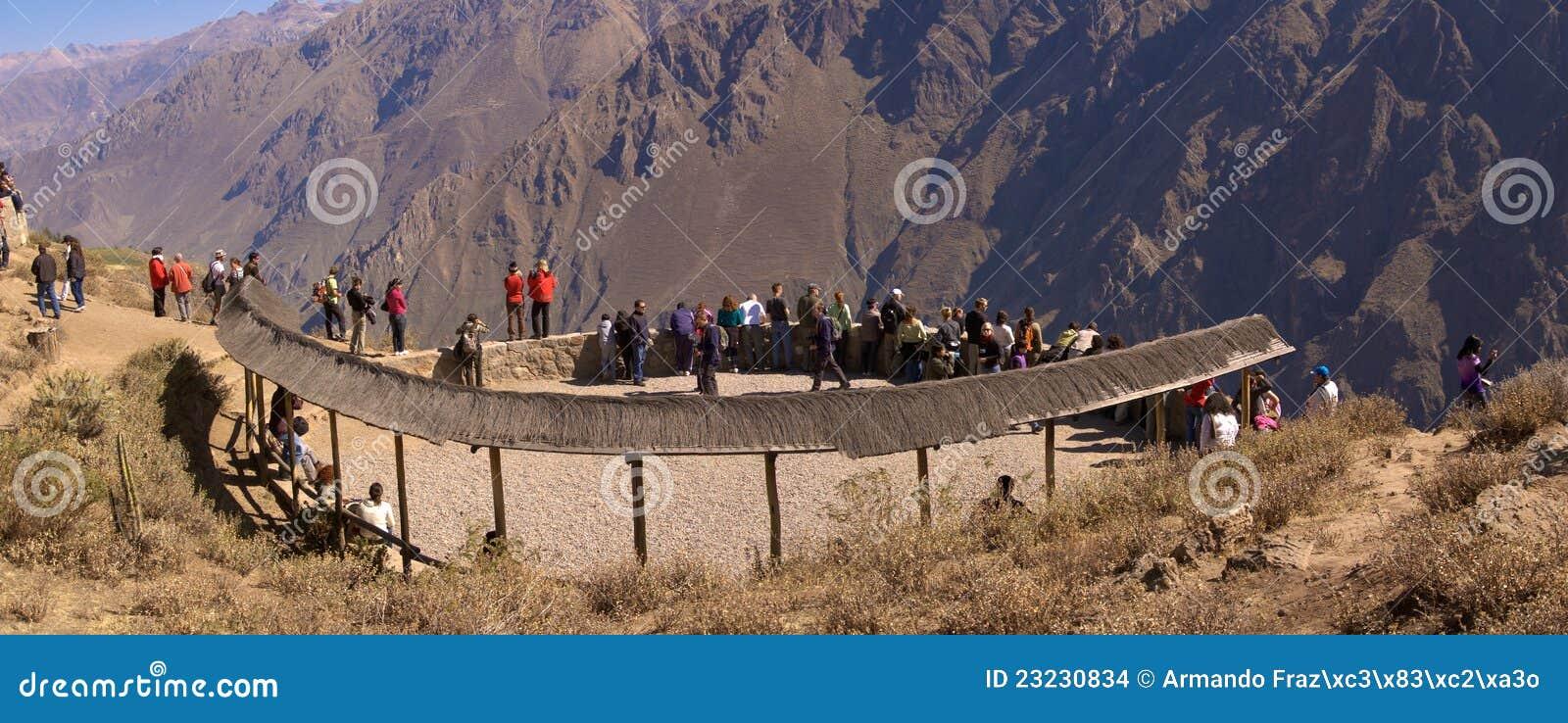Point de vue de Colca Canyon Cruz del Condor