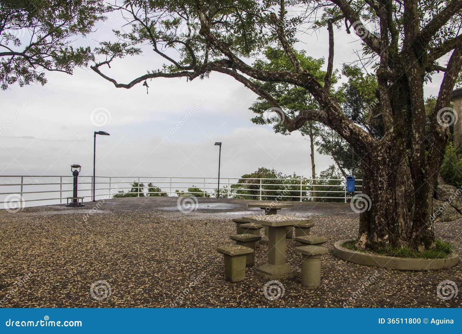 Point de vue de Cruz Mount - Florianópolis/SC - le Brésil
