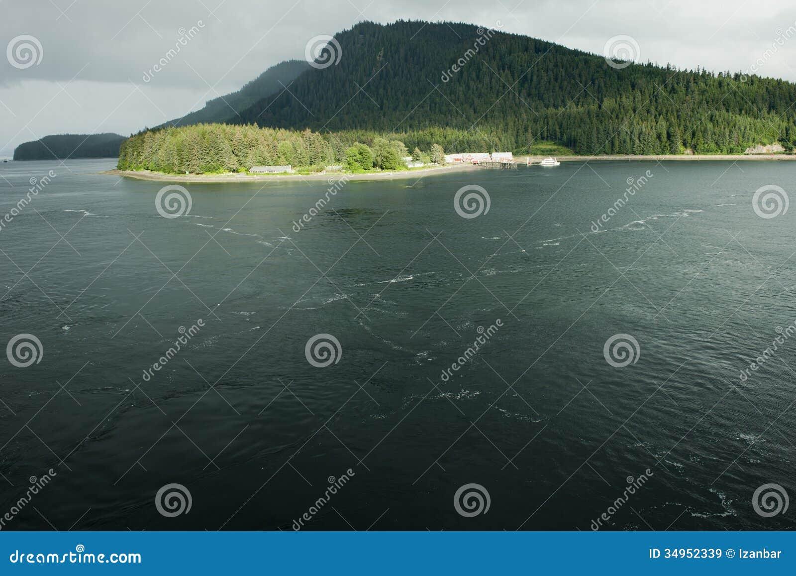 Point glacial Alaska de détroit