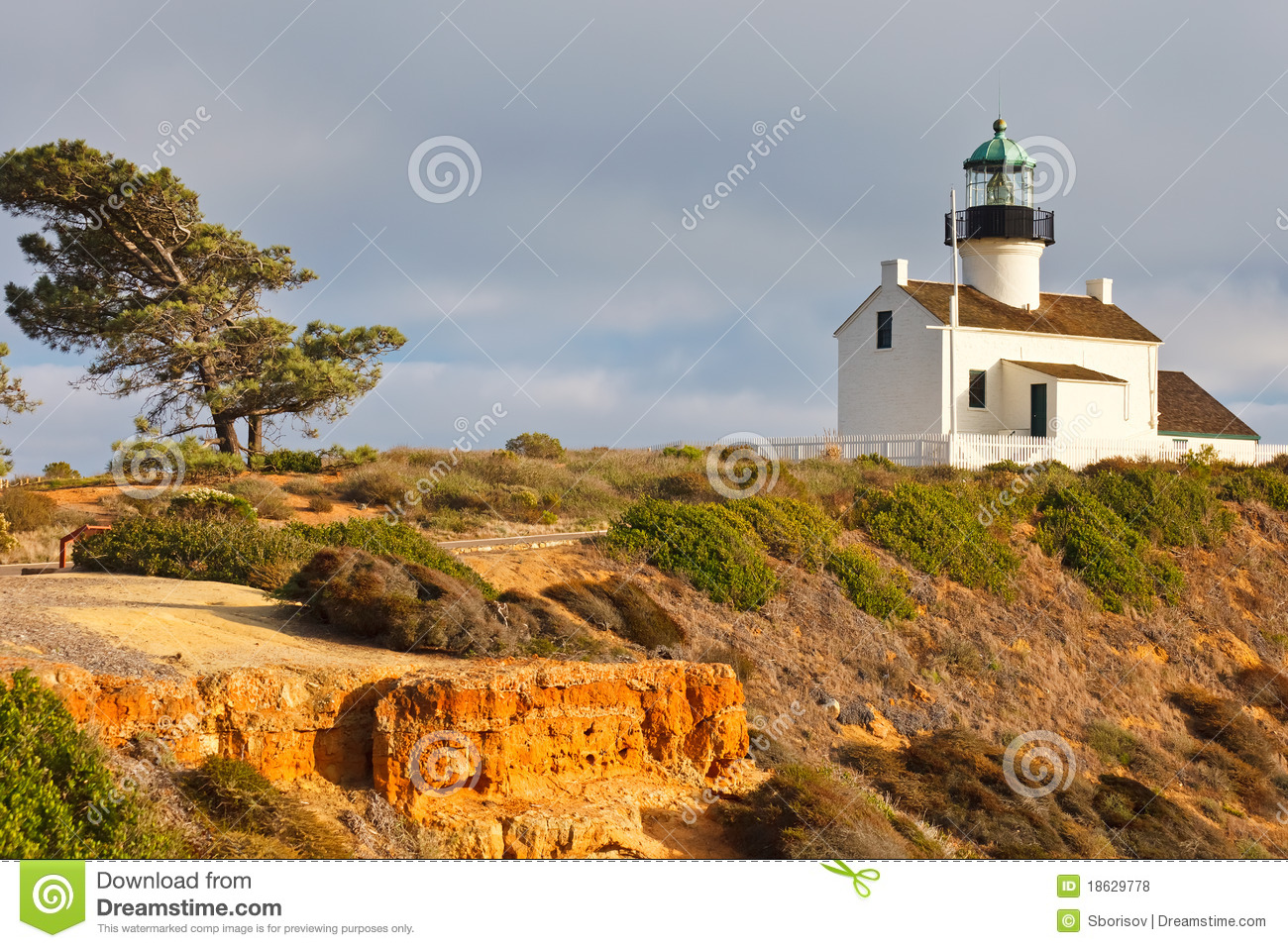 Point Loma Lighthouse in Cabrillo National Park