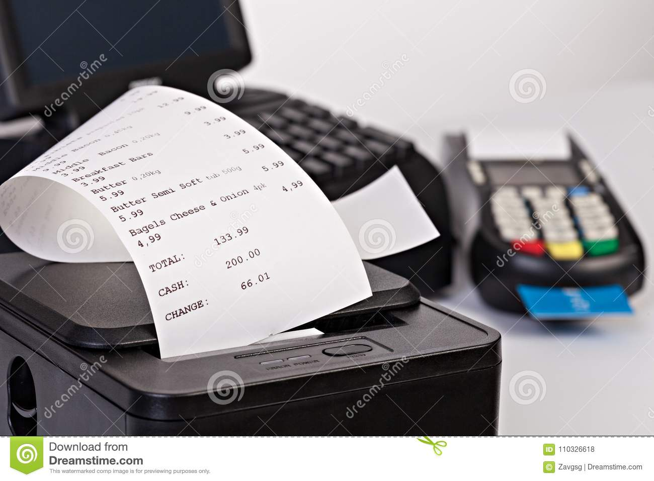 Point of Sale System For Retail with paper shoppin