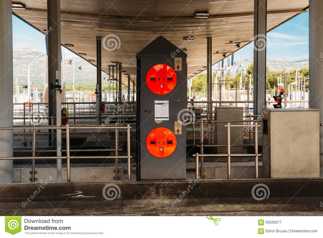 Point of toll highway toll station stock image image - Point p aubagne ...