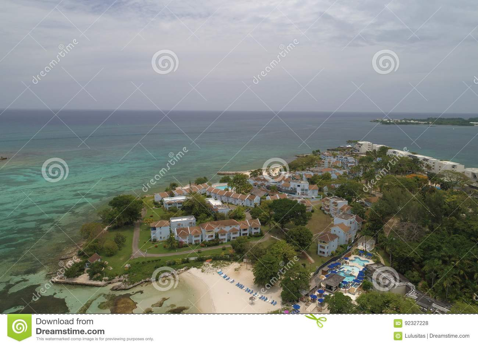 Point Village Resort Negril Jamaica Stock Photo Image Of