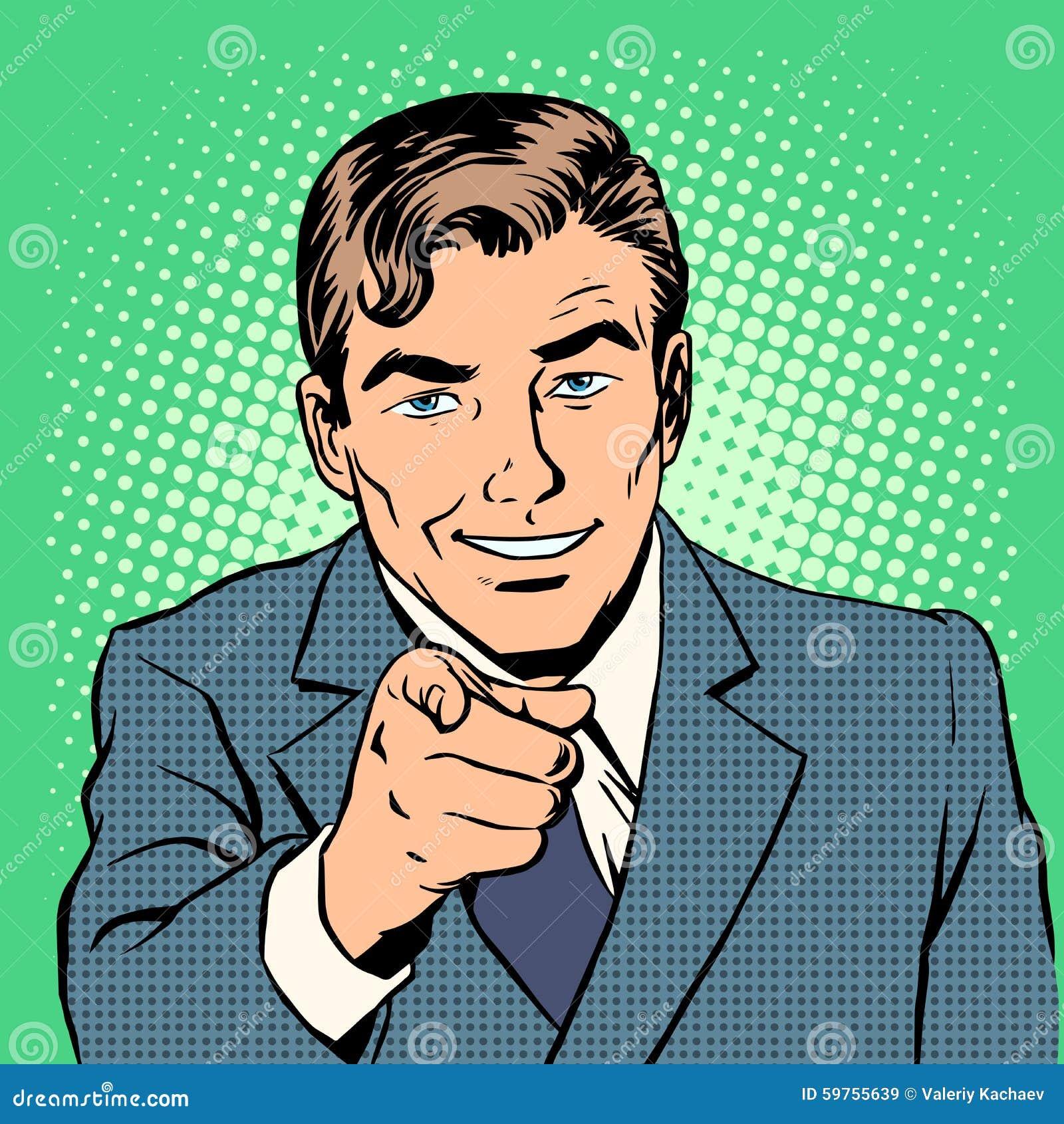 Pointage d homme de doigt