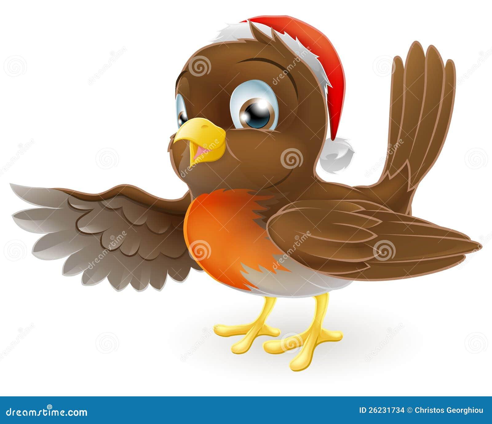 Pointage d oiseau de Robin de Noël