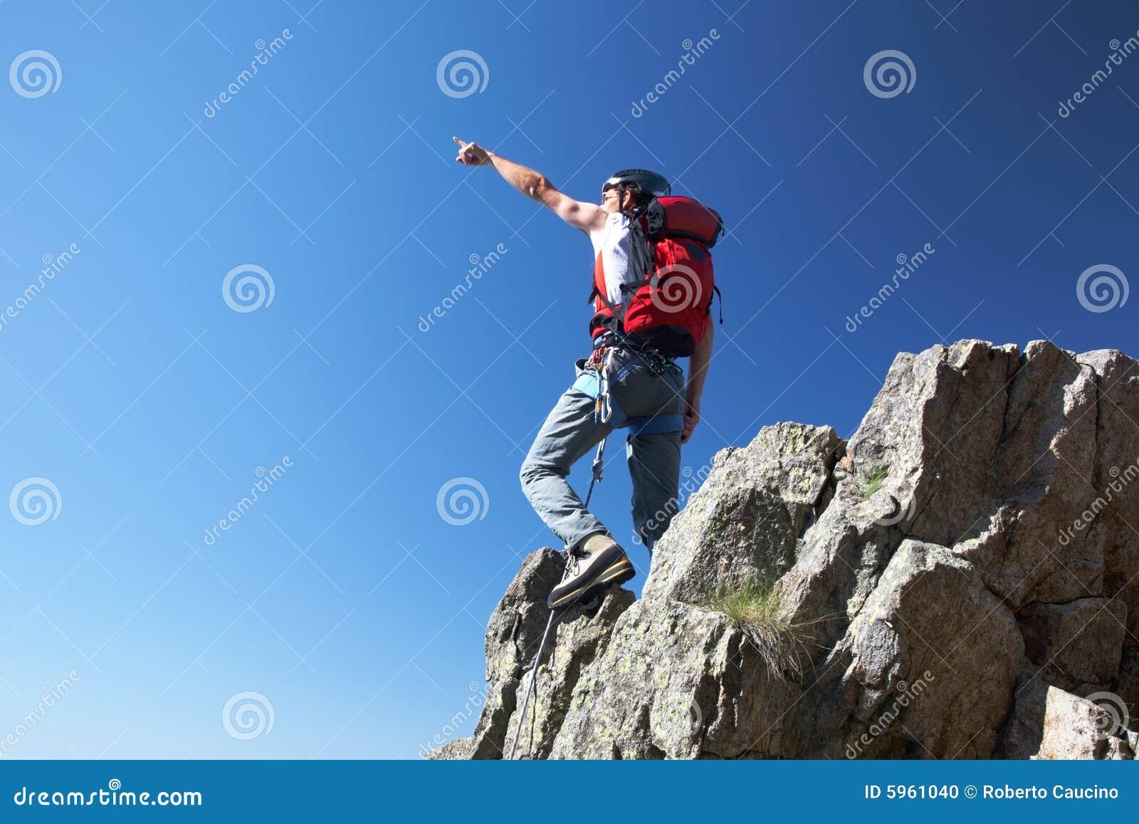 Pointage de grimpeur