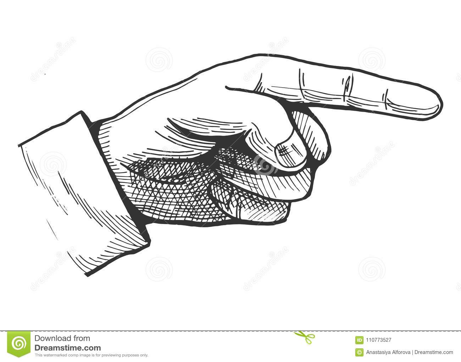 Pointage du dessin de doigt illustration de vecteur - Dessin de doigt ...