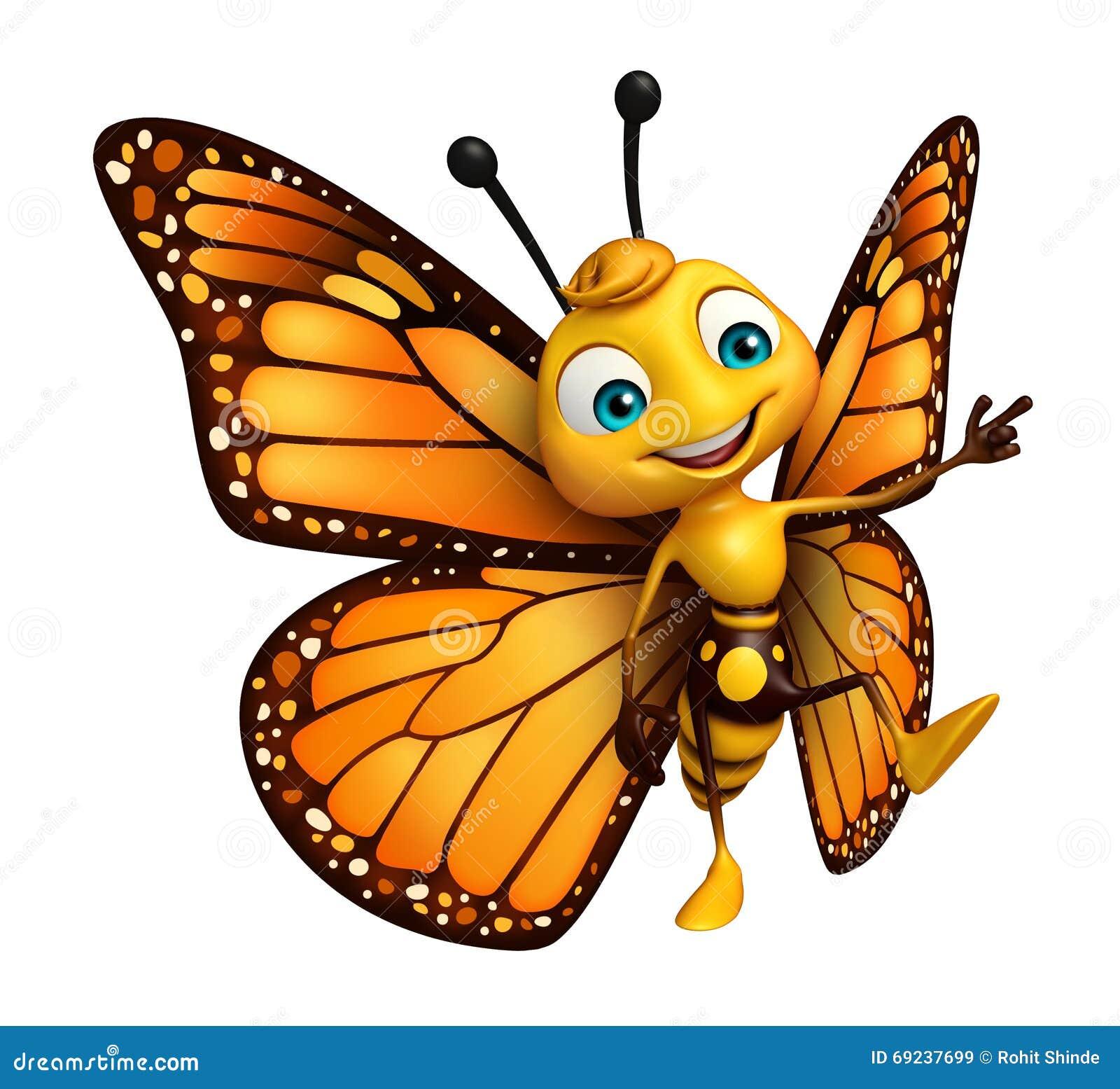 Pointage du personnage de dessin anim de papillon - Papillon dessin couleur ...