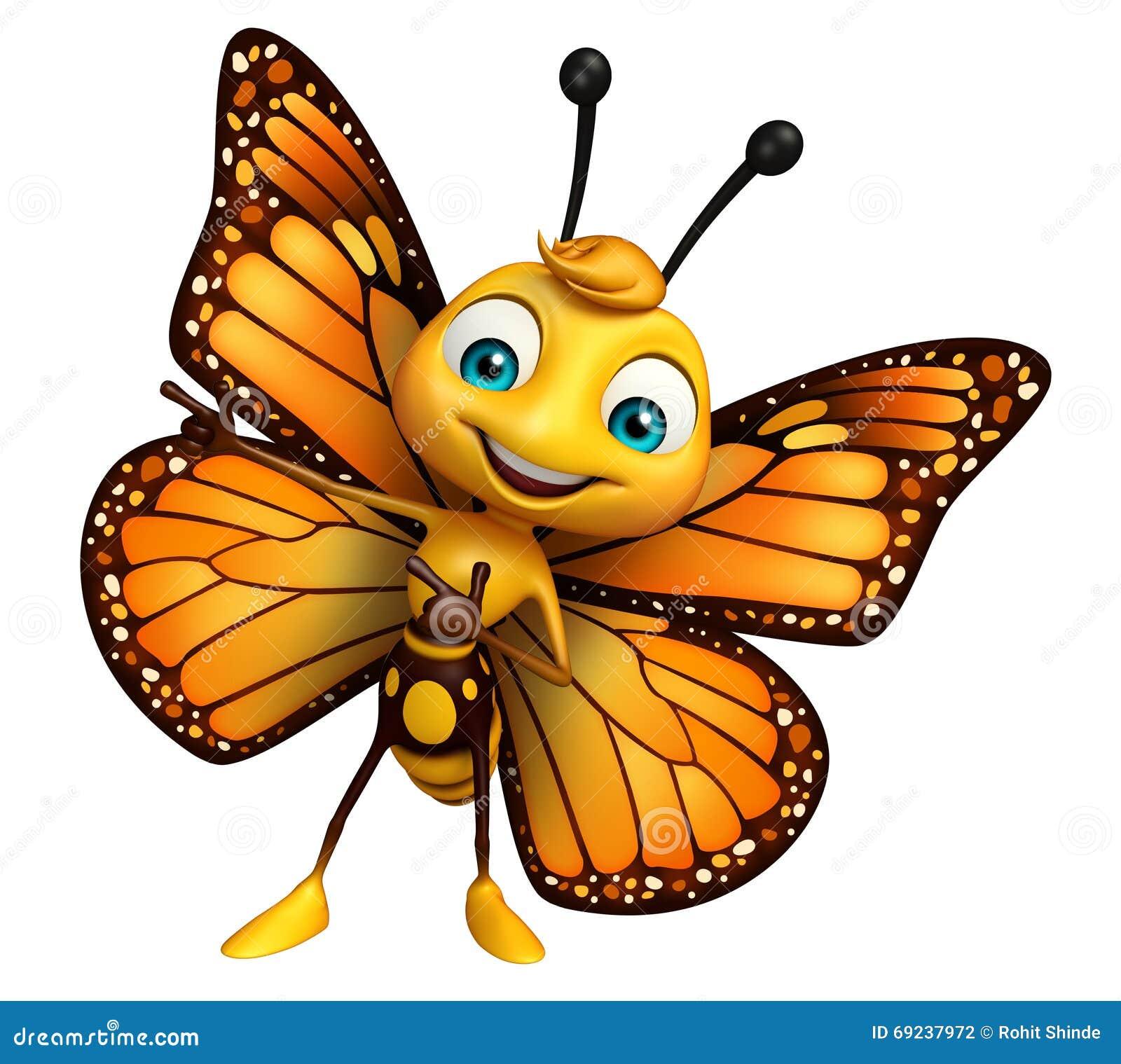 Pointage du personnage de dessin anim de papillon - Papillon image dessin ...