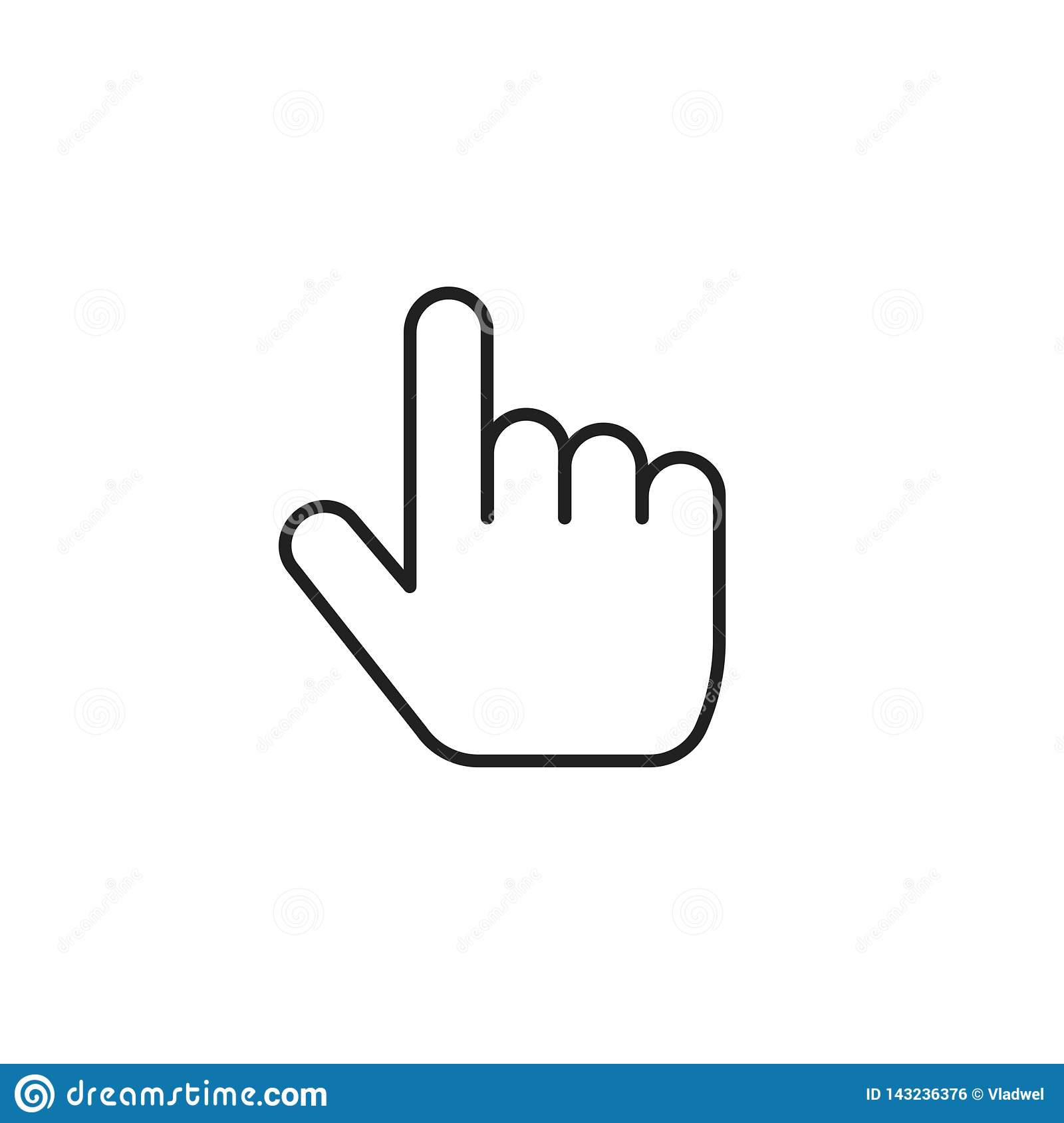 pointer finger icon vector symbol thin line outline index thumb isolated clipart stock vector illustration of outline thumb 143236376 https www dreamstime com pointer finger icon vector symbol thin line outline index thumb isolated clipart image143236376