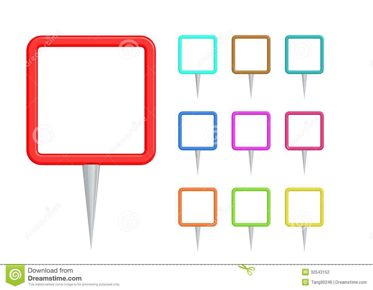 Map Pointer Icon Pin Icon Location Sign Mark Icon: Pointer Square Pin Stock Photography