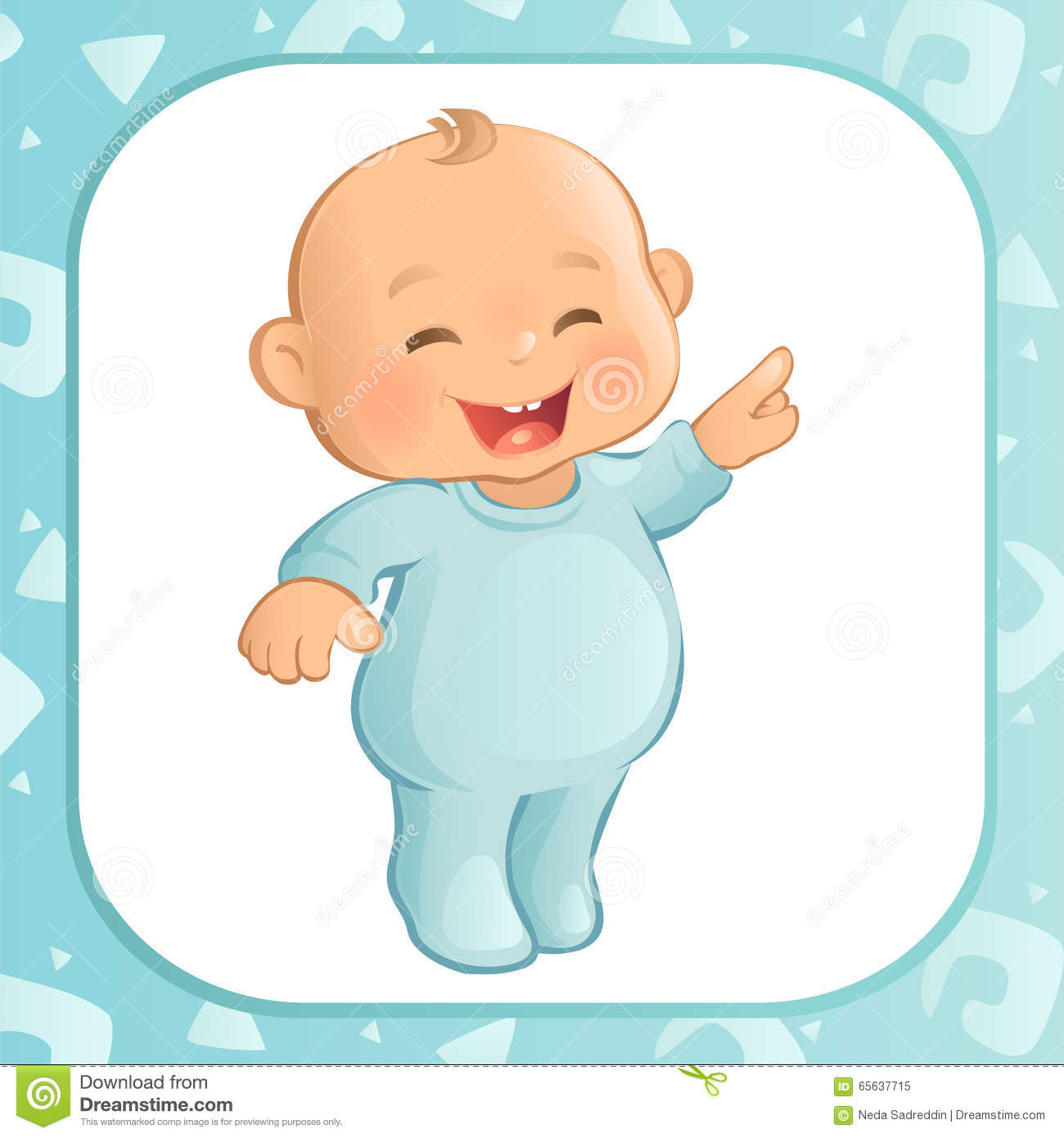 Pointing Baby Boy Vector Stock Vector Image 65637715
