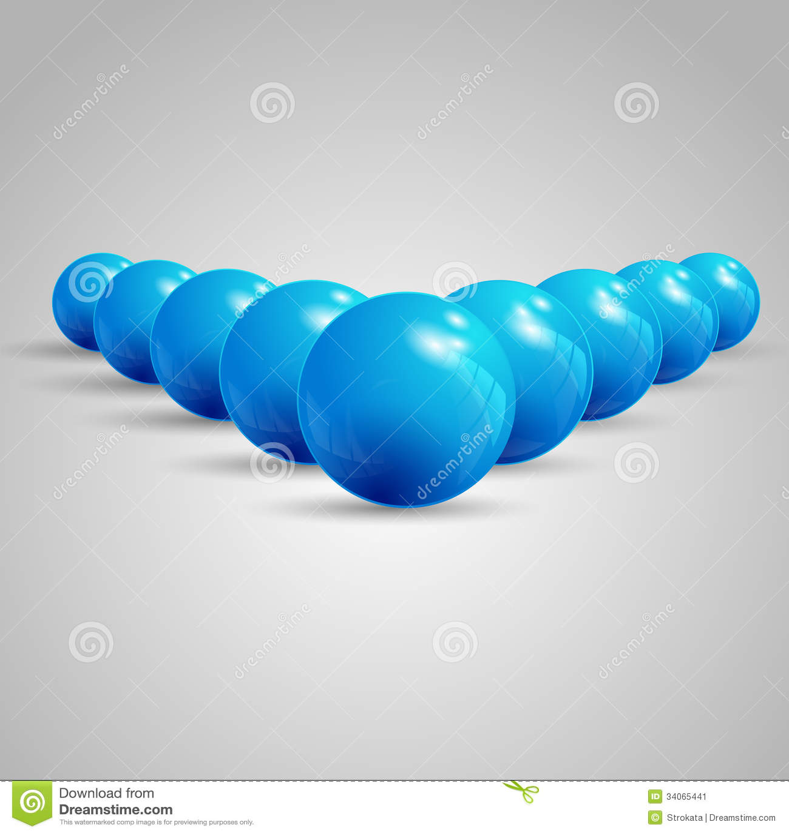 Pointing balls, balls pointing ahead, set of balls