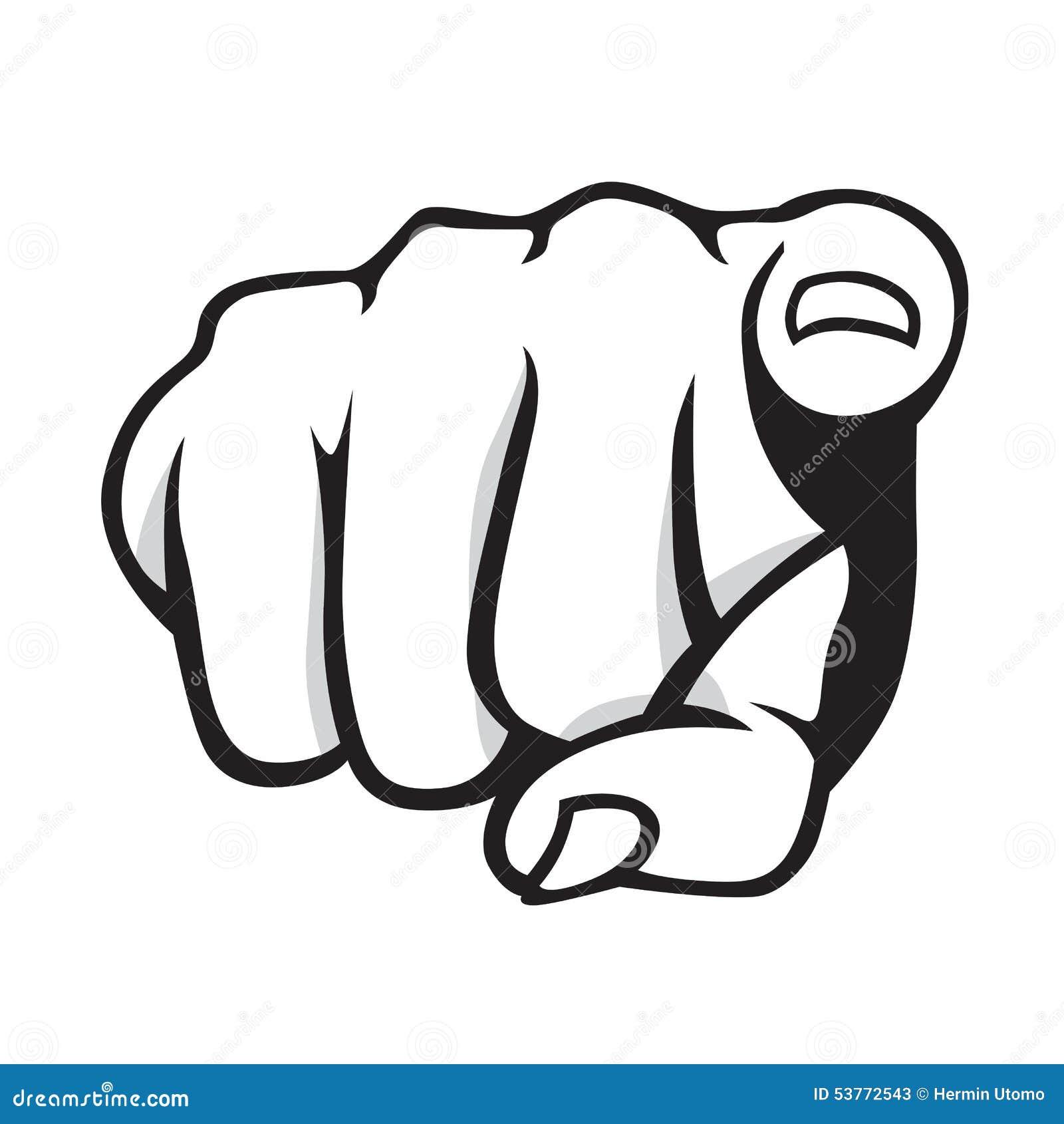pointing finger stock vector illustration of gesturing 53772543 rh dreamstime com pointing finger vector free vintage pointing finger vector