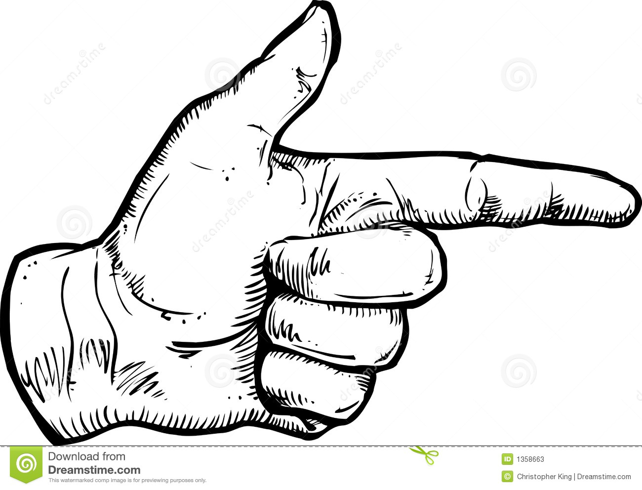 Pointing Hand Illustration Stock Photos - Image: 1358663
