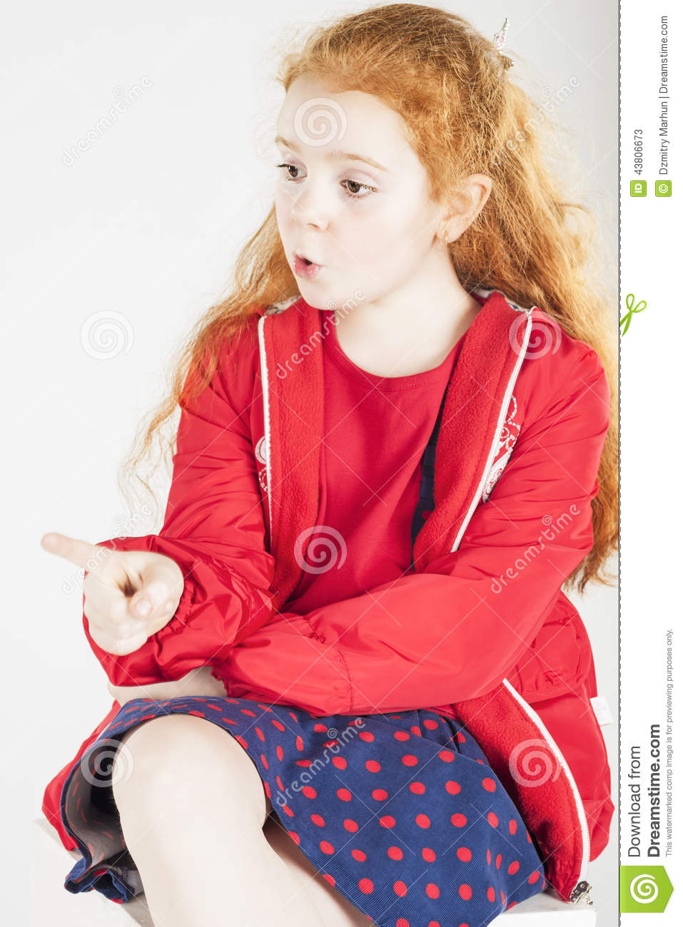 Smiling Red-haired Little Girl Royalty-Free Stock Photo ...