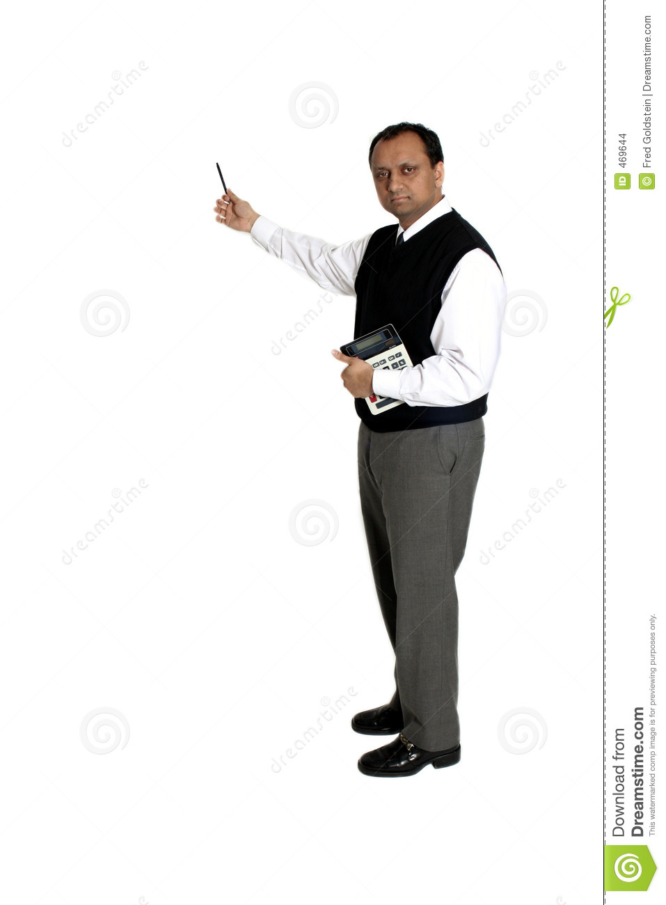 Download Pointing with pen stock photo. Image of work, analyse, sales - 469644