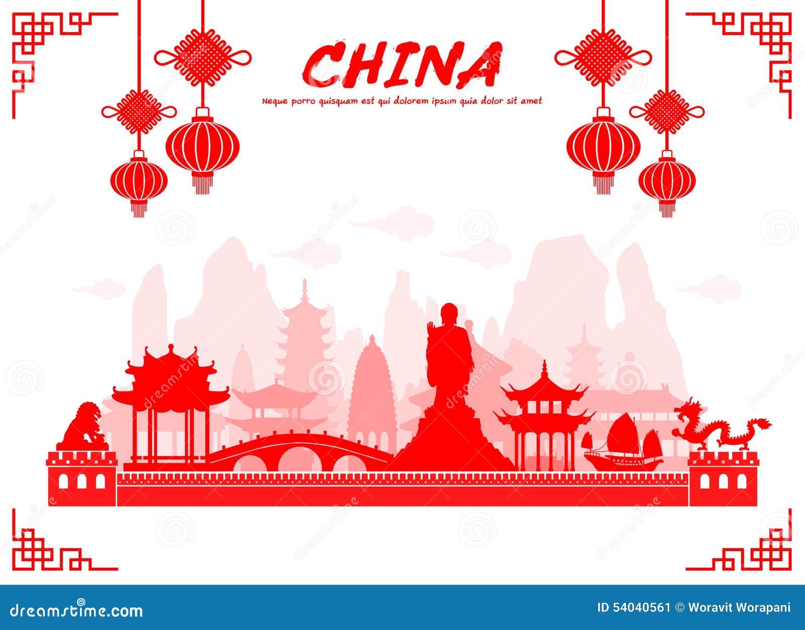 Points de repère de voyage de la Chine