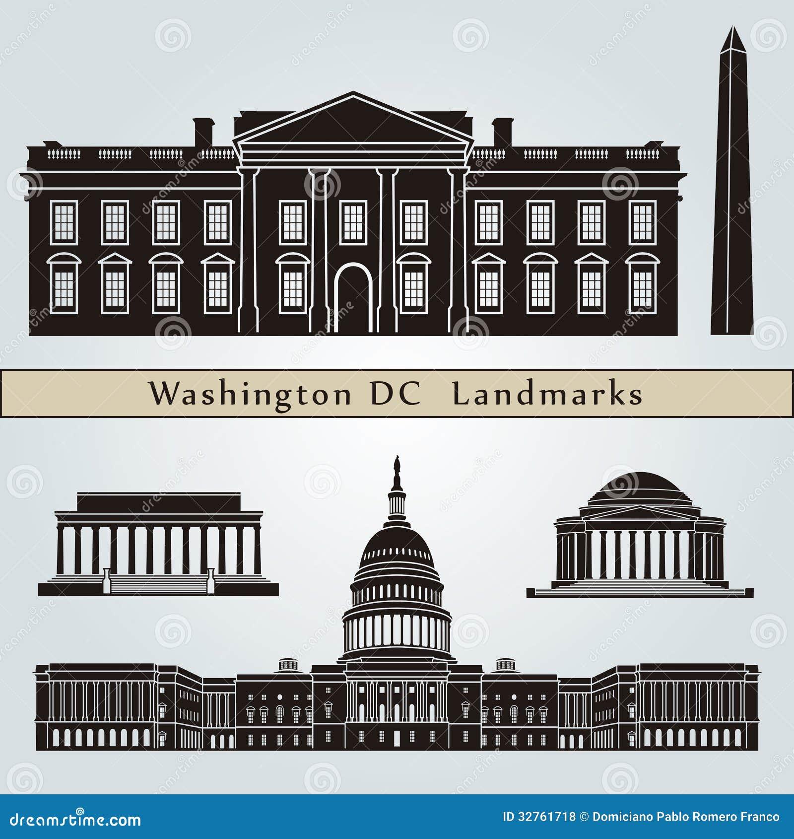 Points de repère et monuments de Washington DC