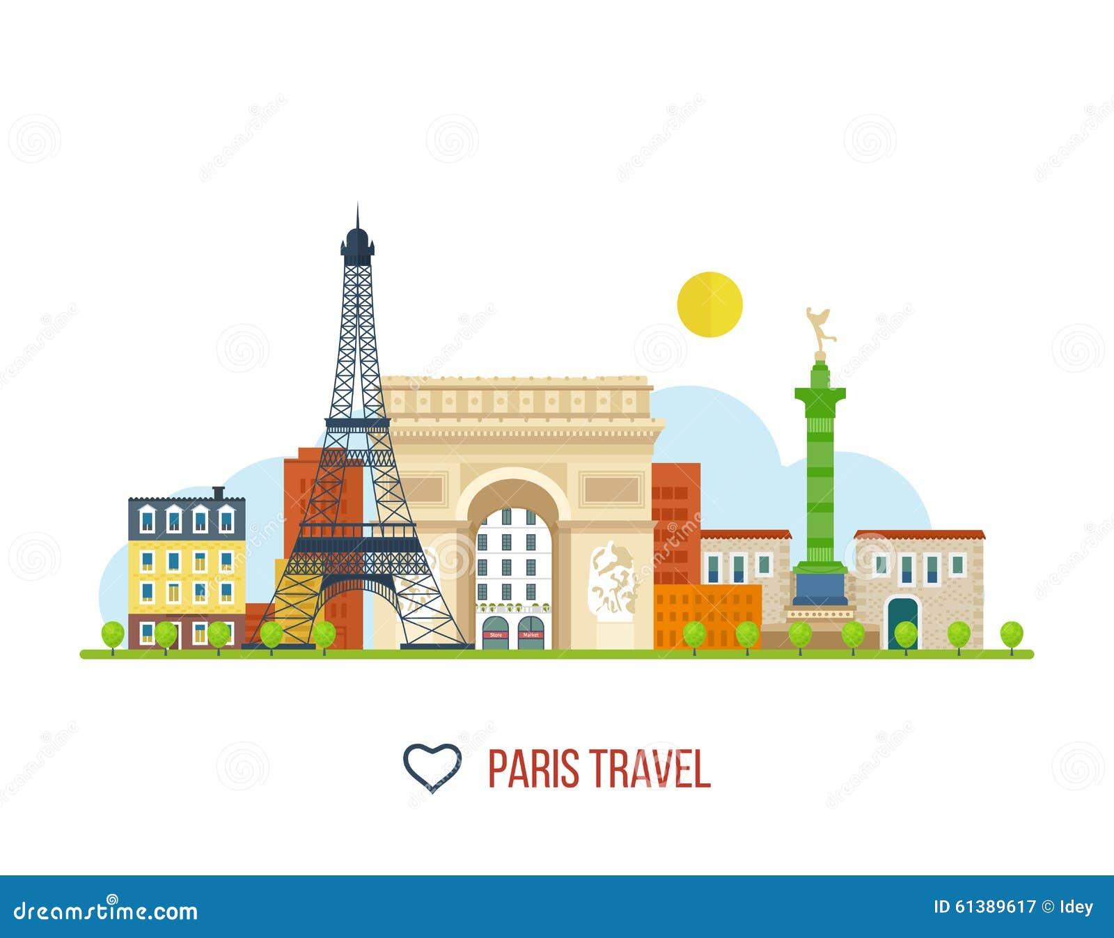 Points de repère français Tour Eiffel, Notre Dame dedans