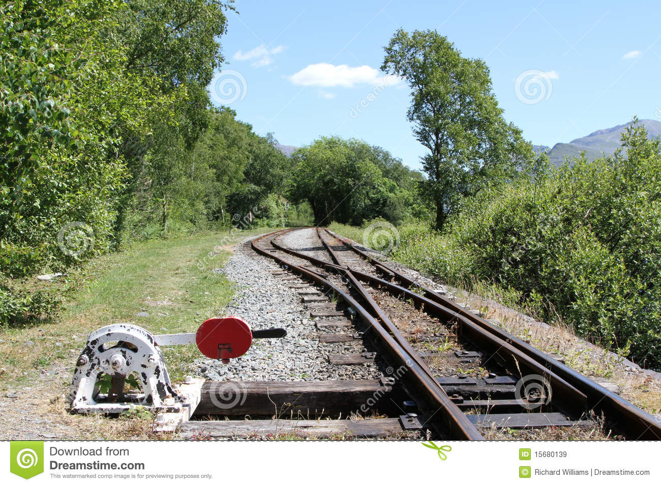 Lever Train Track : Points lever and rail line royalty free stock images