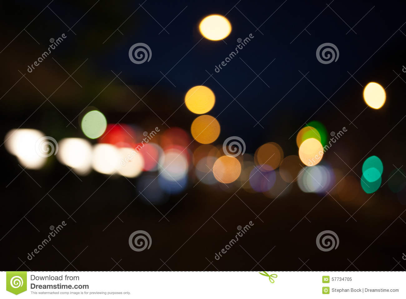 Points Of Light In Dark Night Of >> Points Of Light At Night Bokeh City Traffic Lights Stock Image