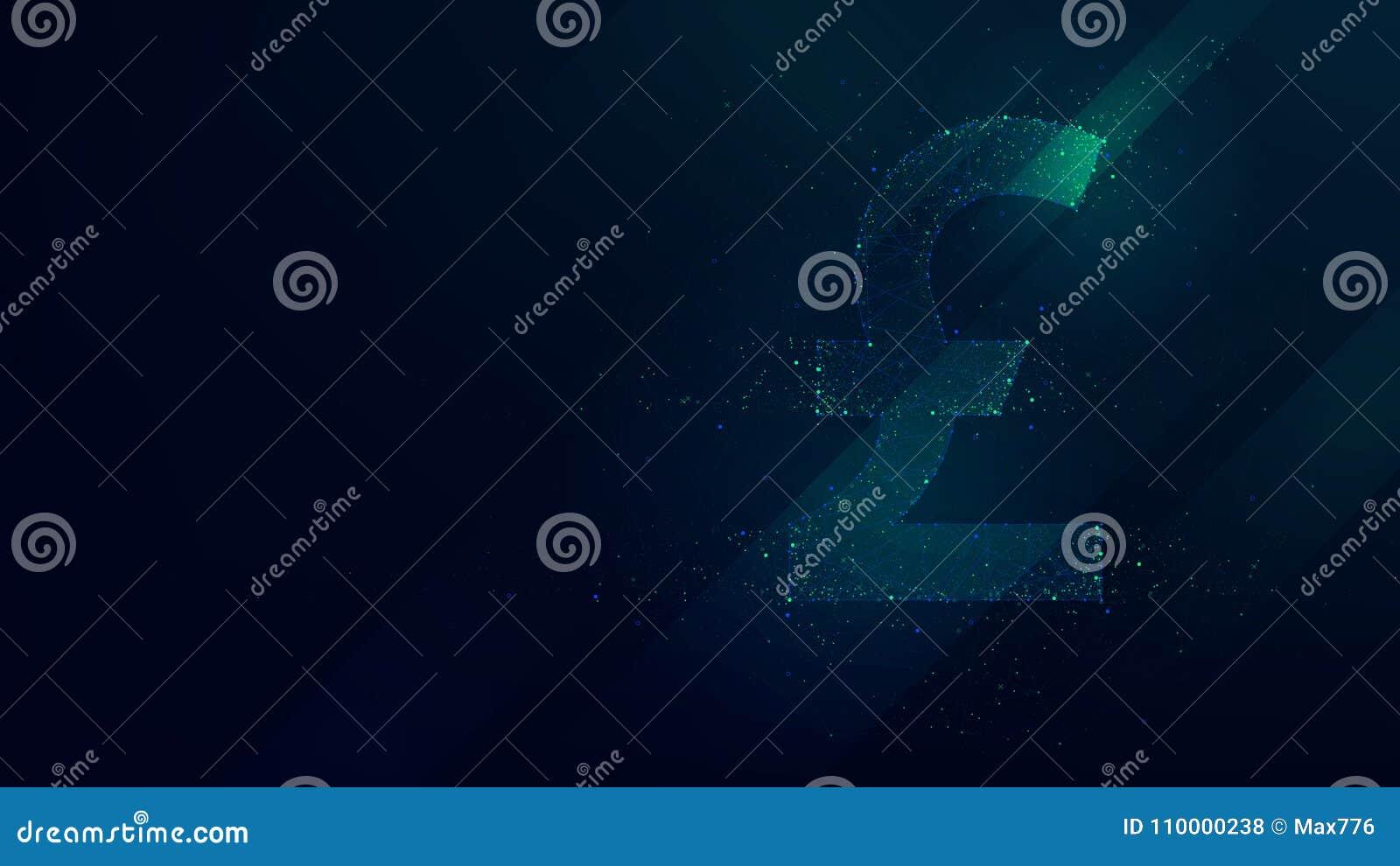 Points polygonaux d abrégé sur livre sterling, basse poly future technologie