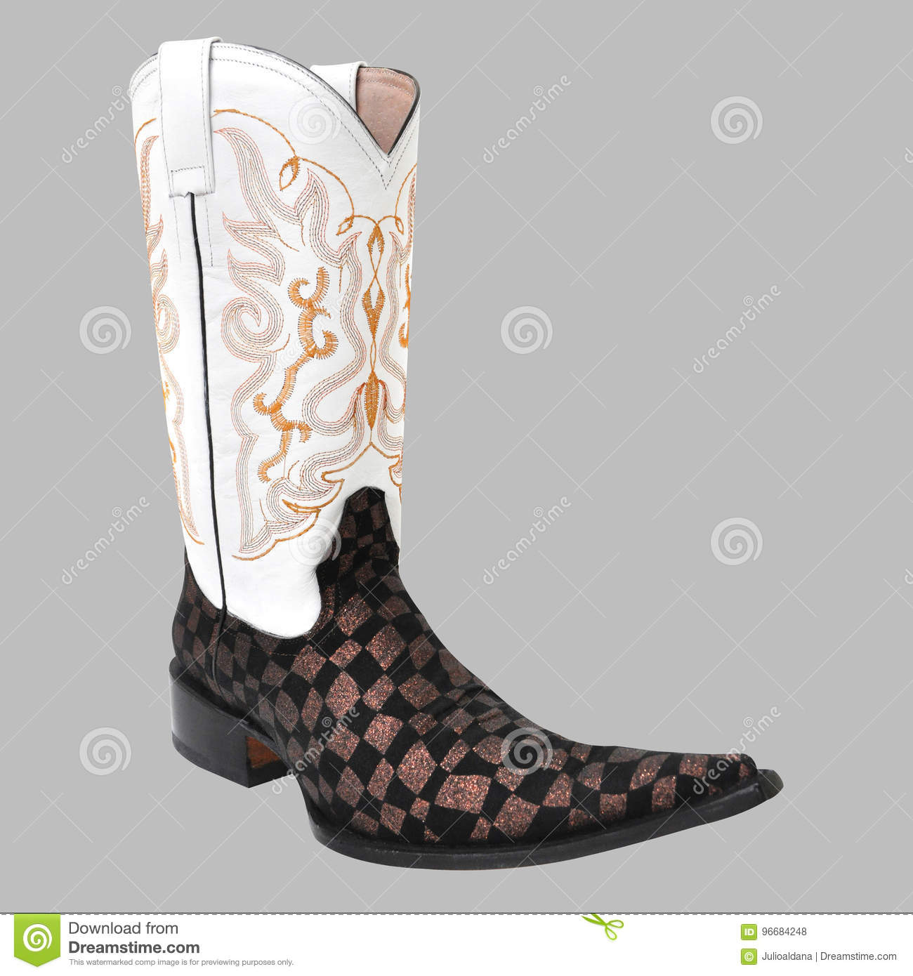 07a585896ba Pointy mexican cowboy boot stock photo. Image of cowgirl - 96684248