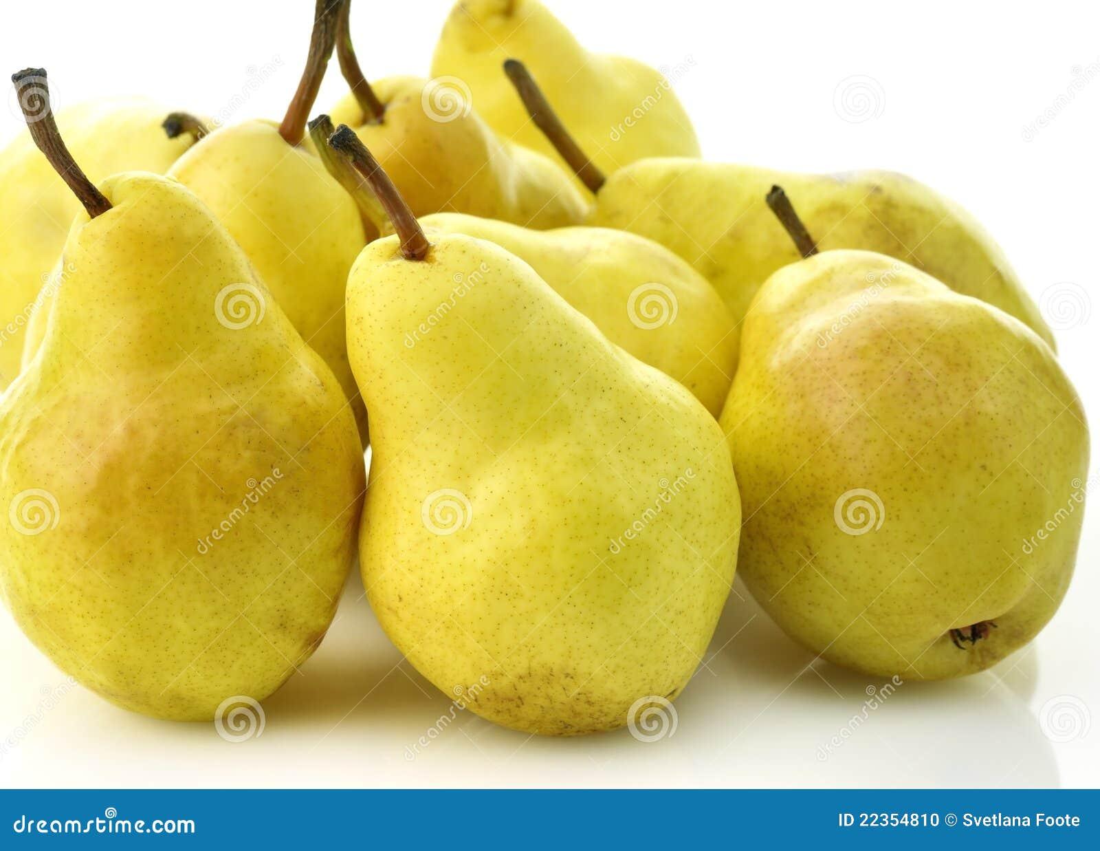 Poires jaunes