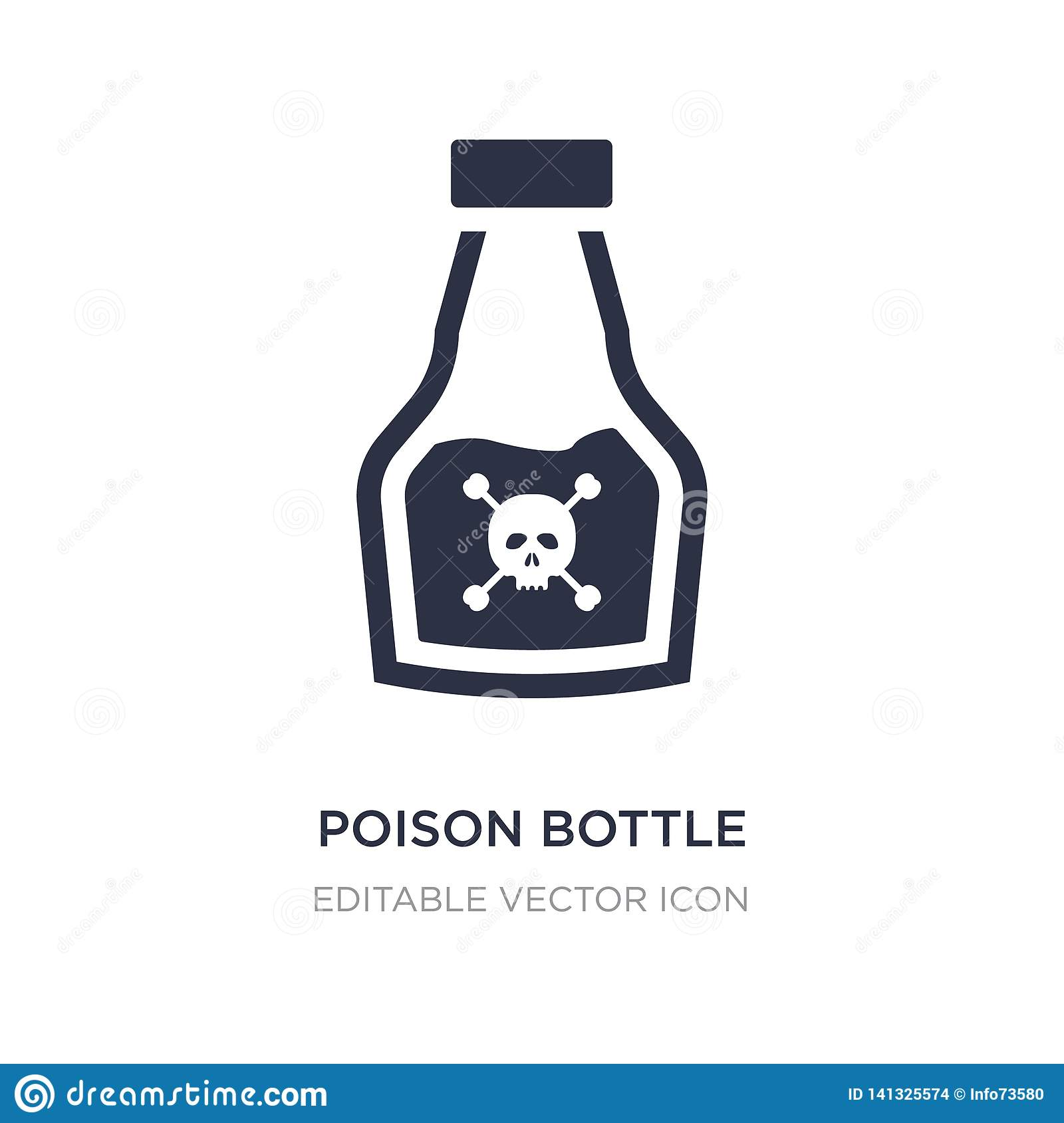 poison bottle with a skull icon on white background. Simple element illustration from Medical concept