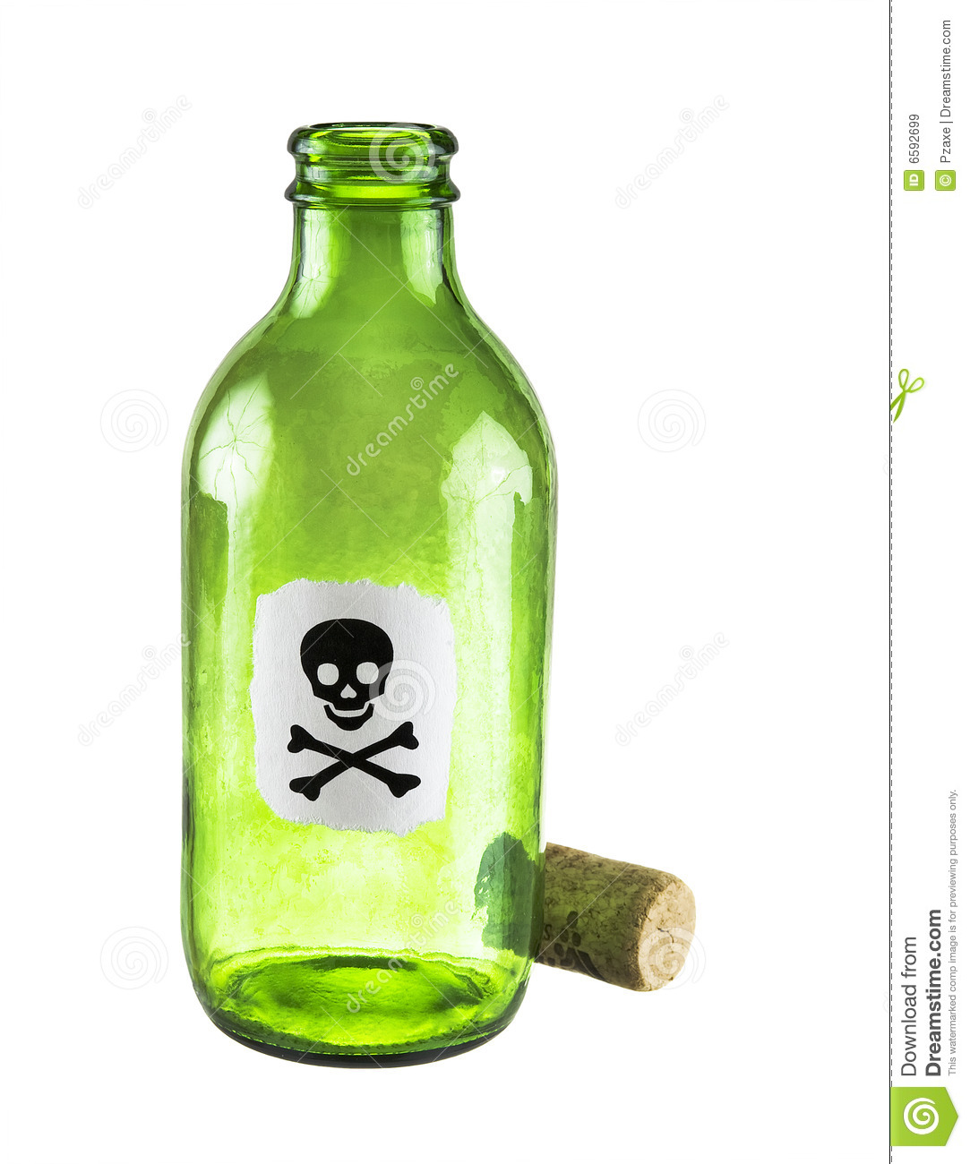 Poison Bottle On A White Royalty Free Stock Images - Image: 6592699