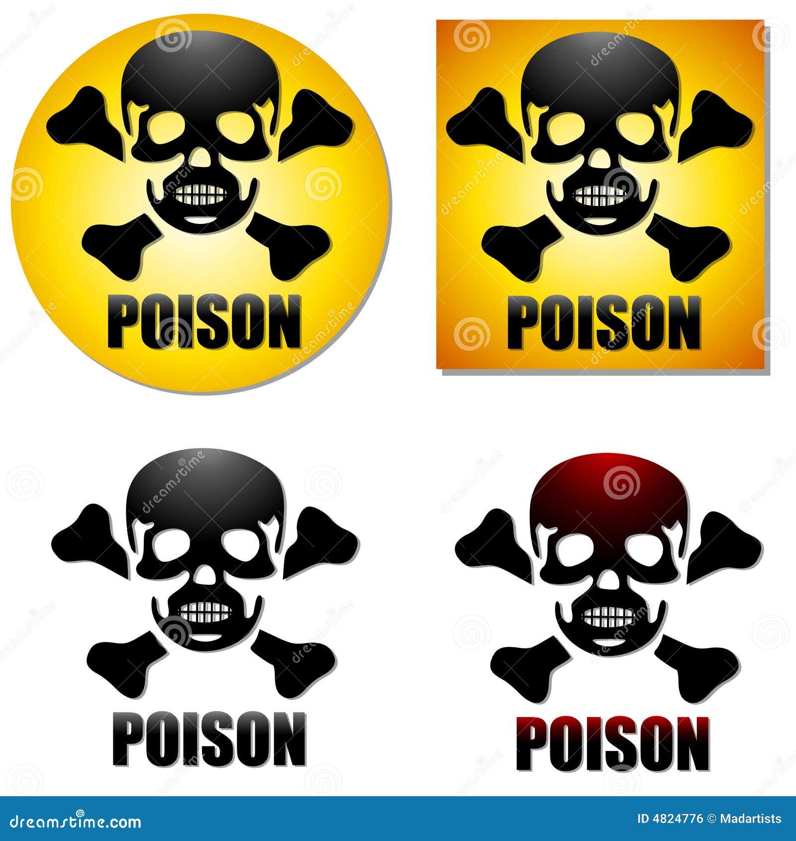 Poison Skull Crossbones Symbols Stock Illustration Illustration Of
