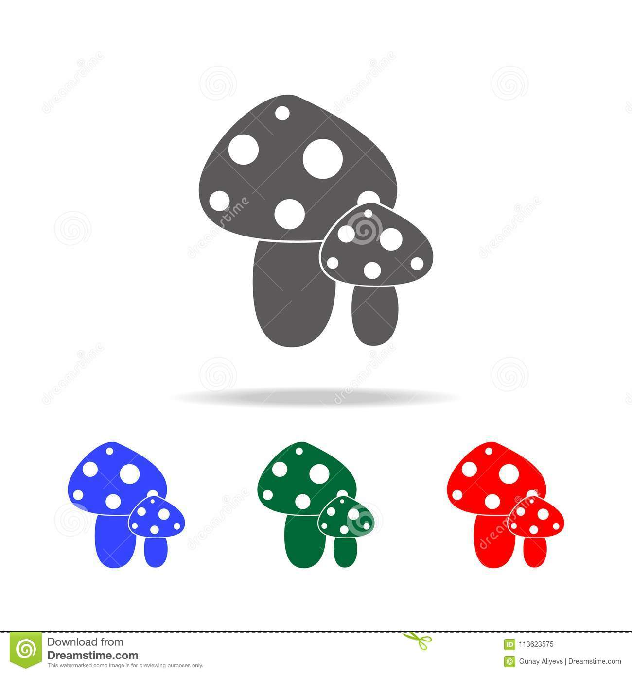 poisonous mushroom icon. Elements of human weakness and addiction multi colored icons. Premium quality graphic design icon. Simple