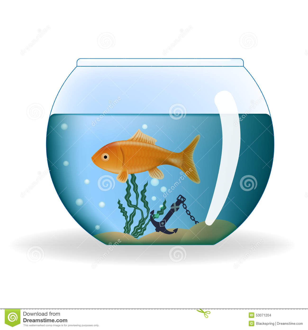 Poisson rouge dans l 39 aquarium rond illustration de vecteur for Aquarium pour poisson rouge