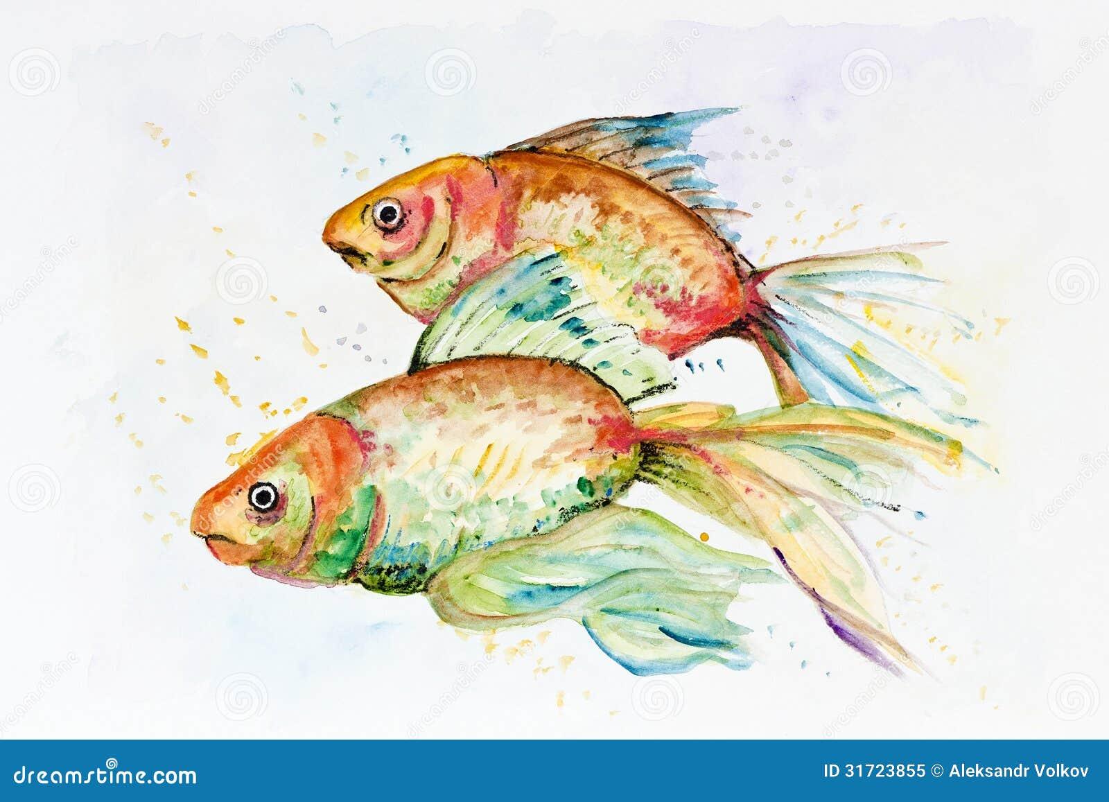 Poisson rouge triste photo libre de droits image 31723855 for Aquarium poisson rouge simple