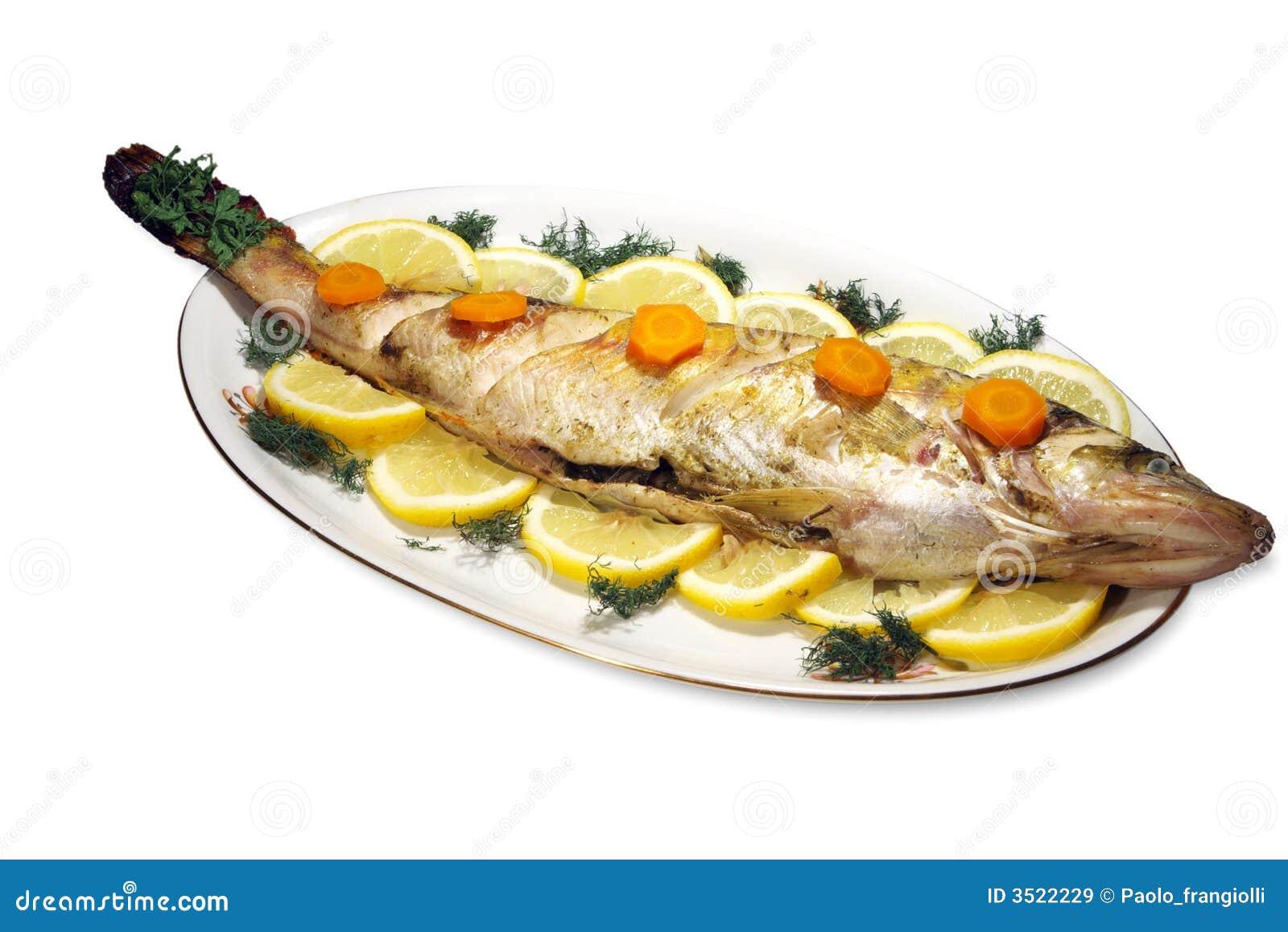 Poissons cuits au four image stock image du manger for Nourriture a poisson