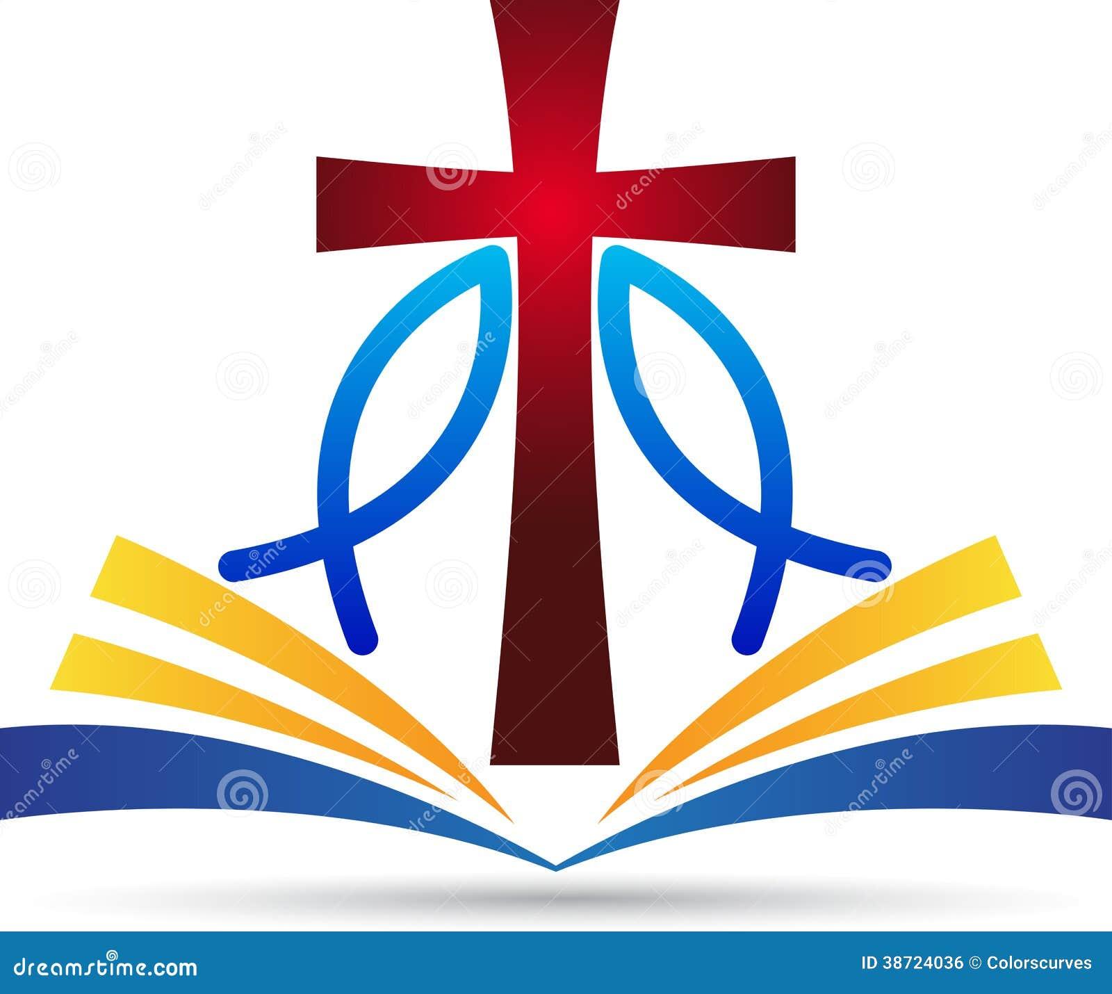 Poissons de bible de croix de Jésus