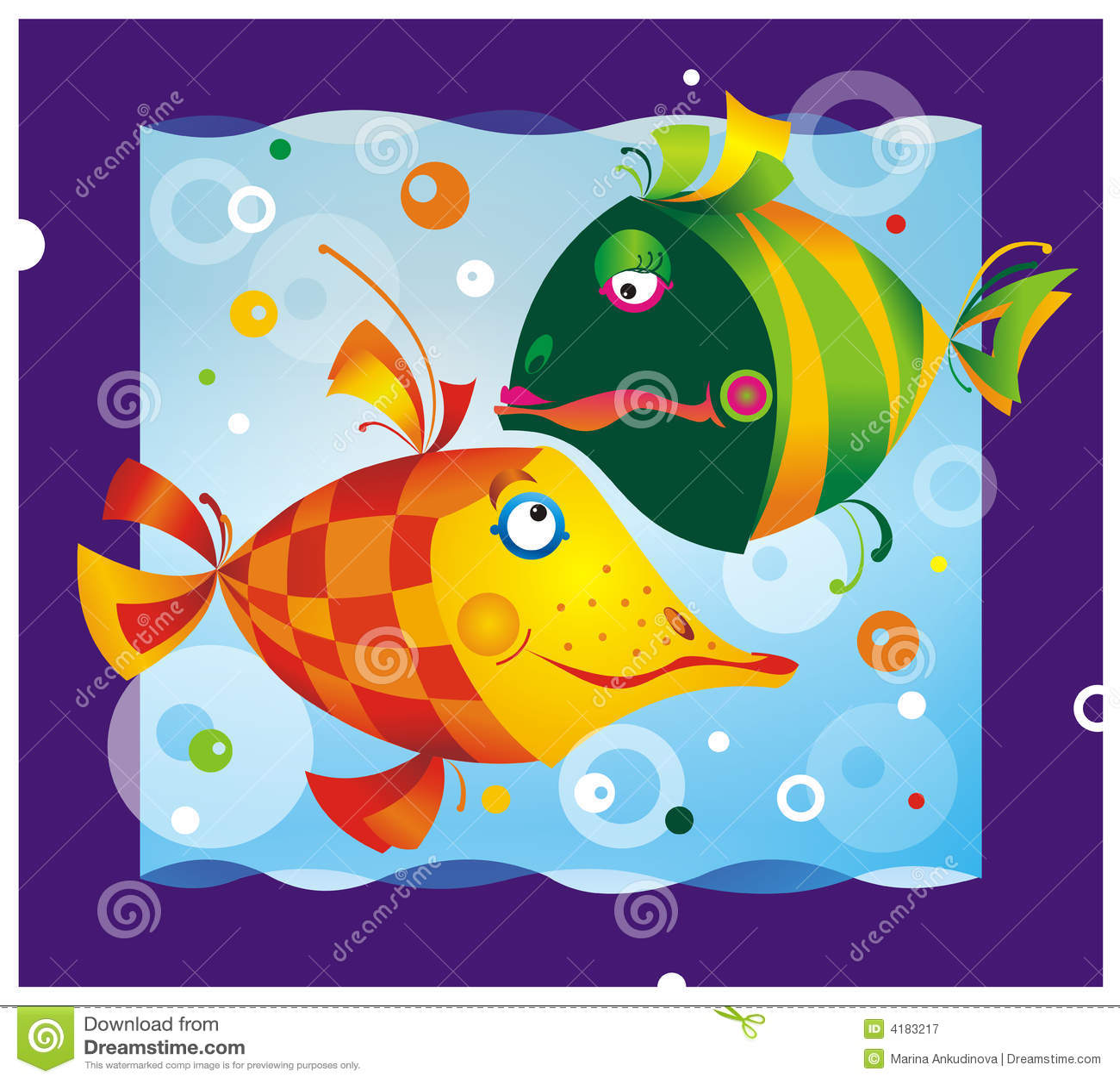 Poissons de dessin anim de couleur illustration stock image 4183217 - Poisson dessin couleur ...