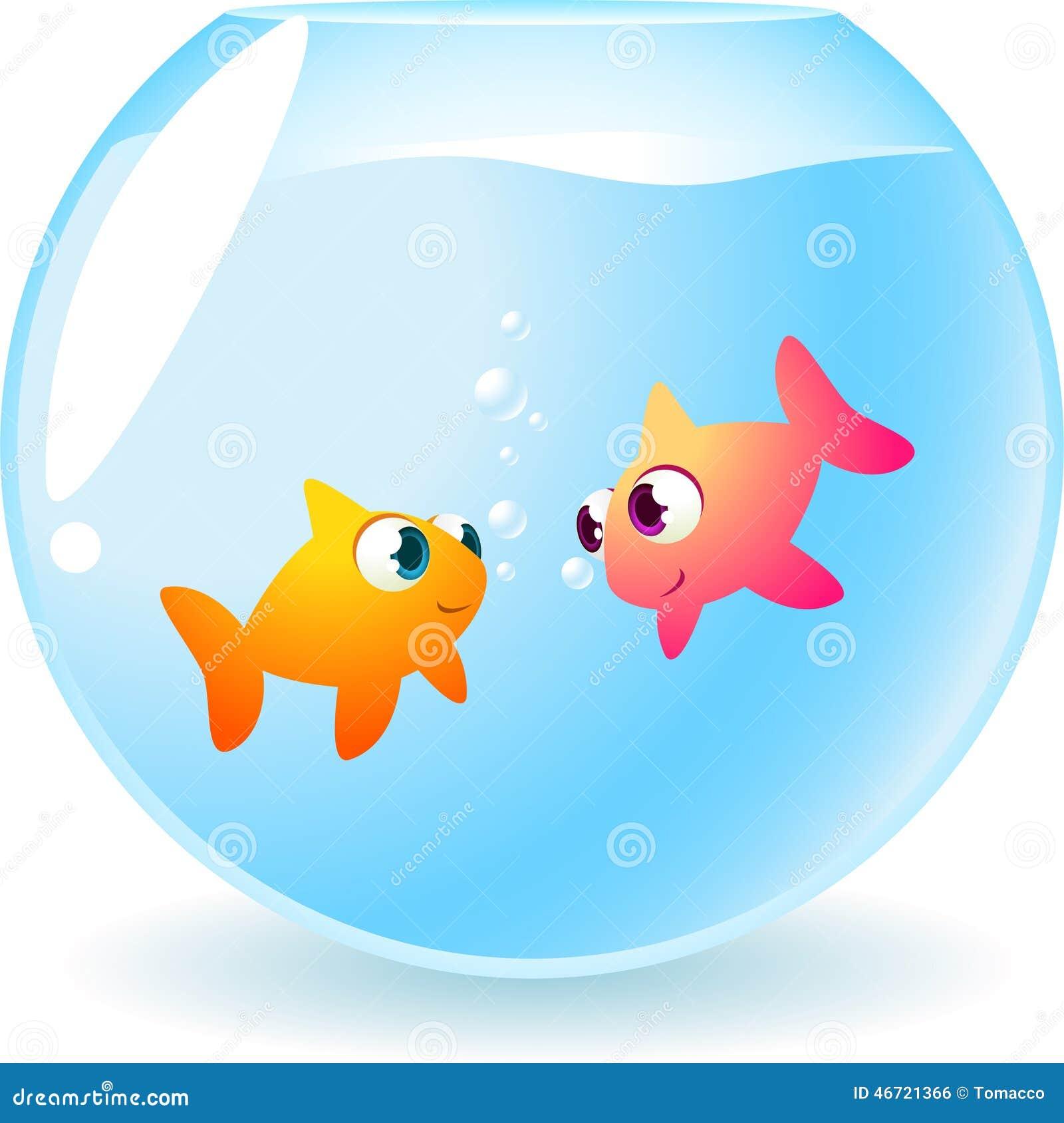 Poissons de poisson rouge dans l 39 amour illustration stock for Achat poisson rouge nice